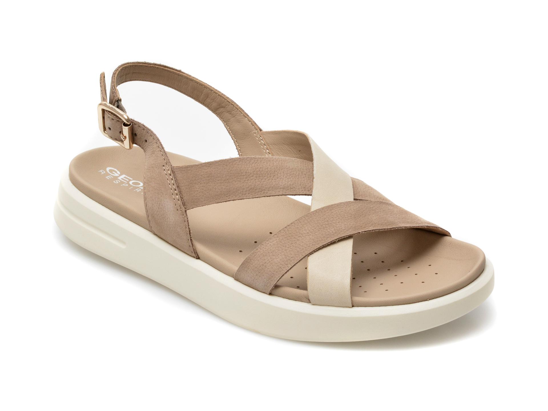 Sandale GEOX gri, D15PAD, din piele naturala imagine otter.ro 2021