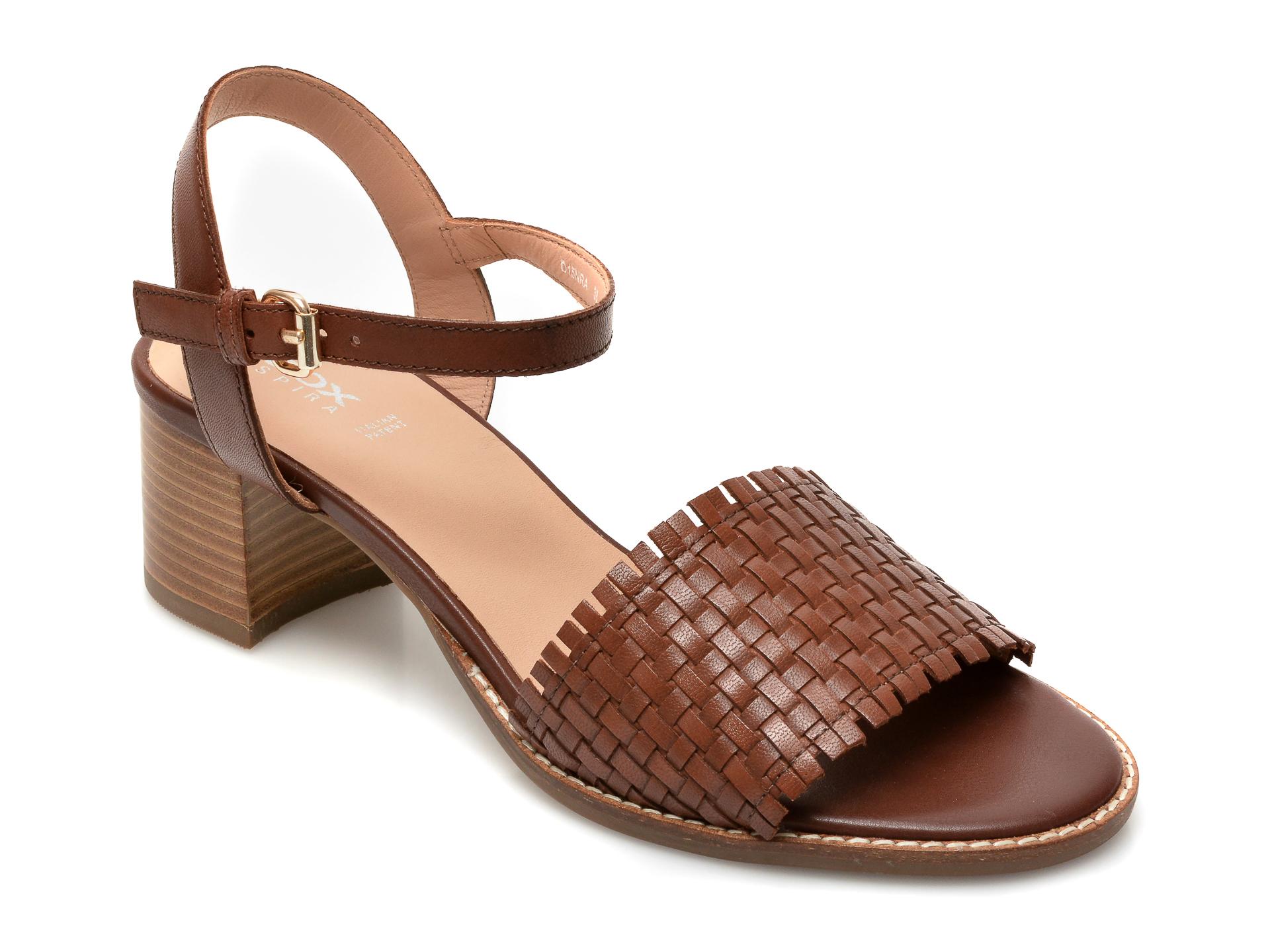 Sandale GEOX maro, D15NRA, din piele naturala imagine otter.ro 2021