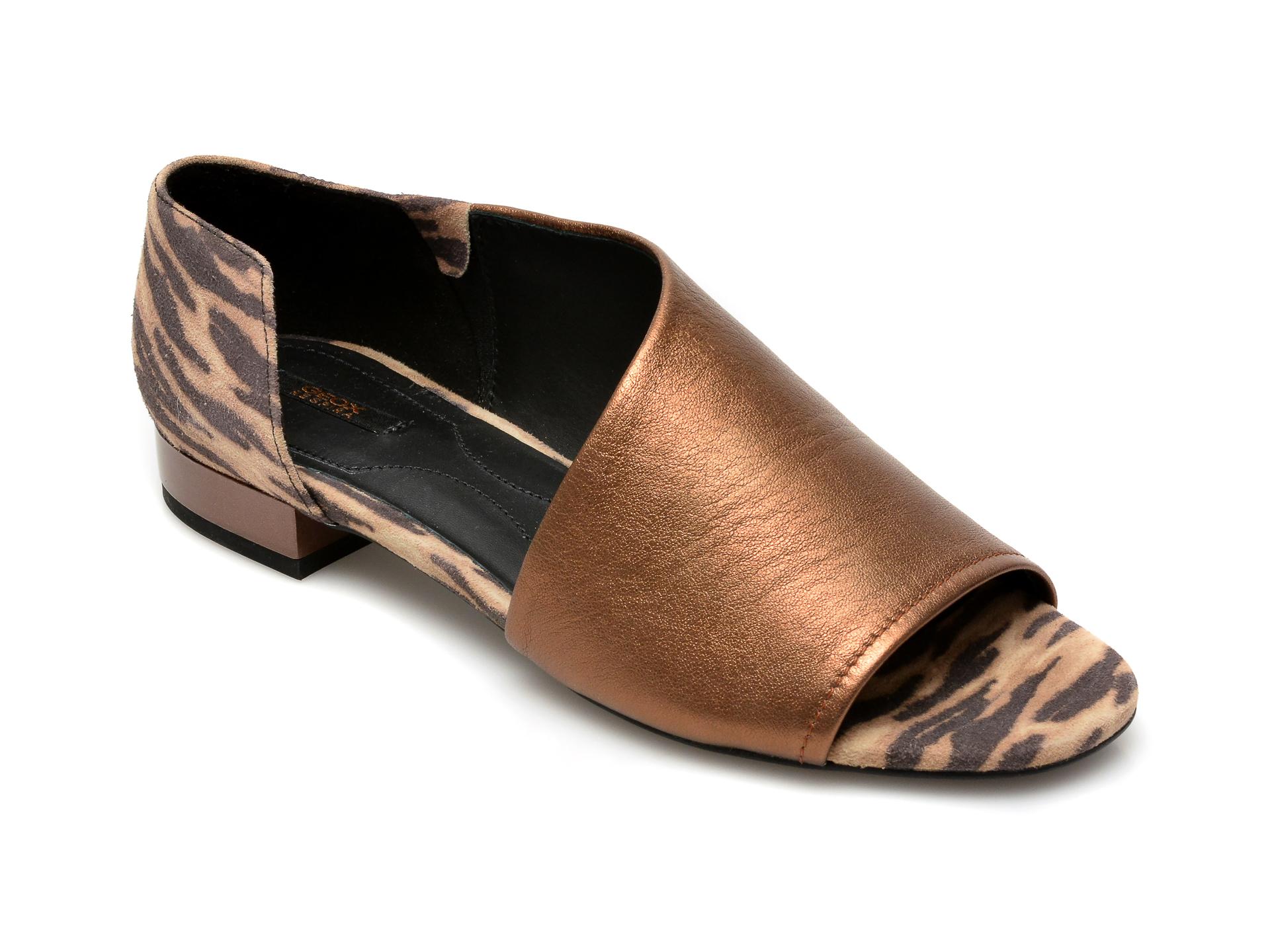 Sandale GEOX maro, D724HA, din piele naturala imagine otter.ro 2021