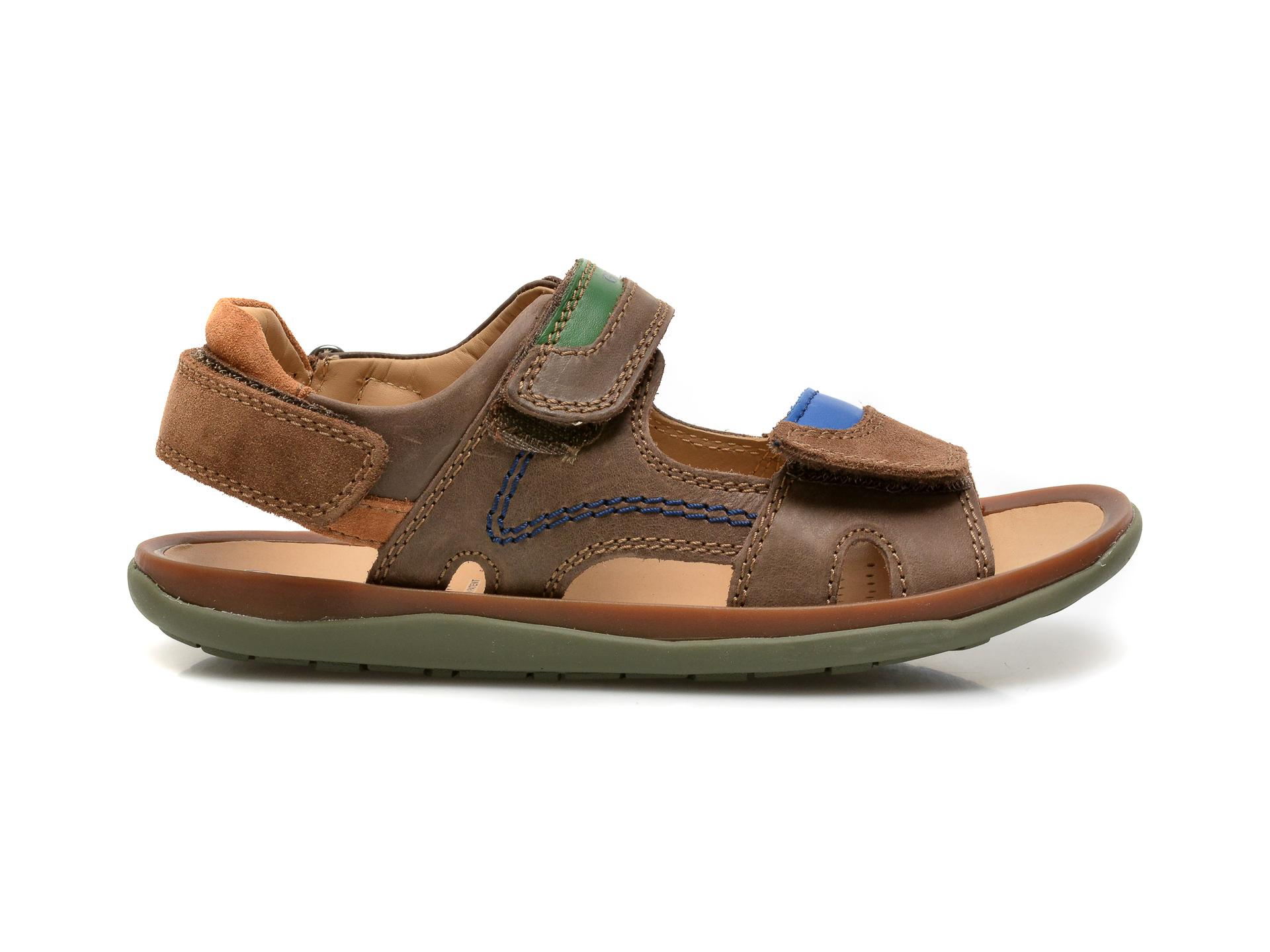 Sandale GEOX maro, J02BBB, din piele naturala - 1