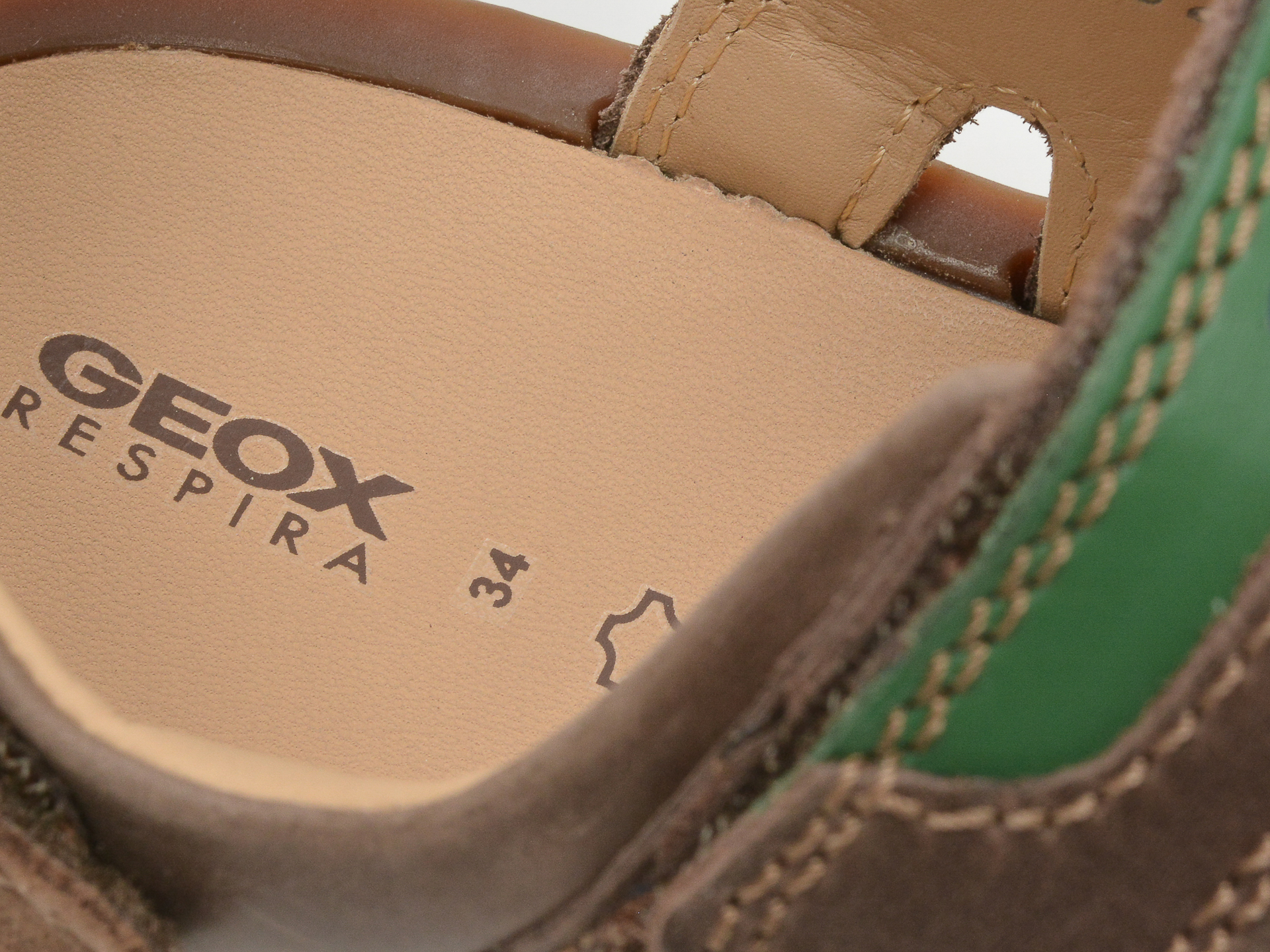Sandale GEOX maro, J02BBB, din piele naturala - 3