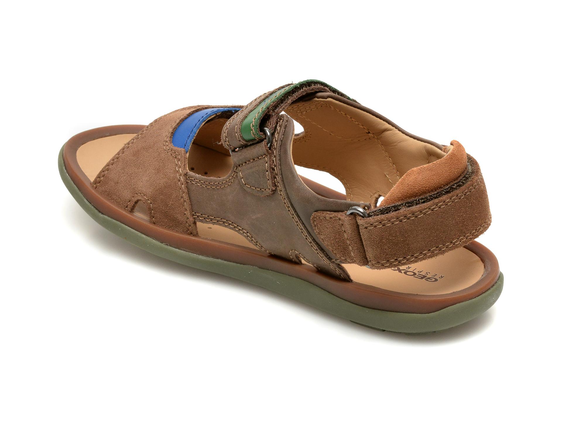 Sandale GEOX maro, J02BBB, din piele naturala - 5