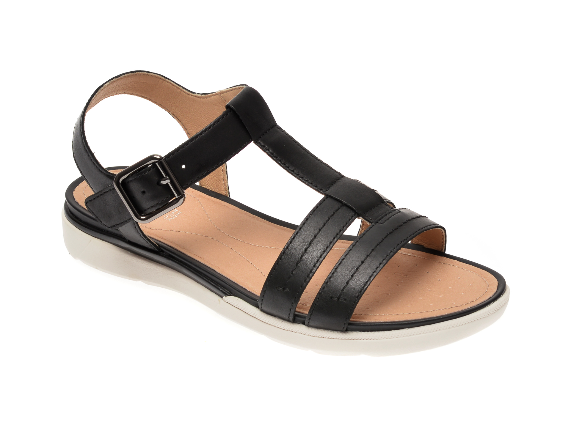 Sandale GEOX negre, D02GZB, din piele naturala