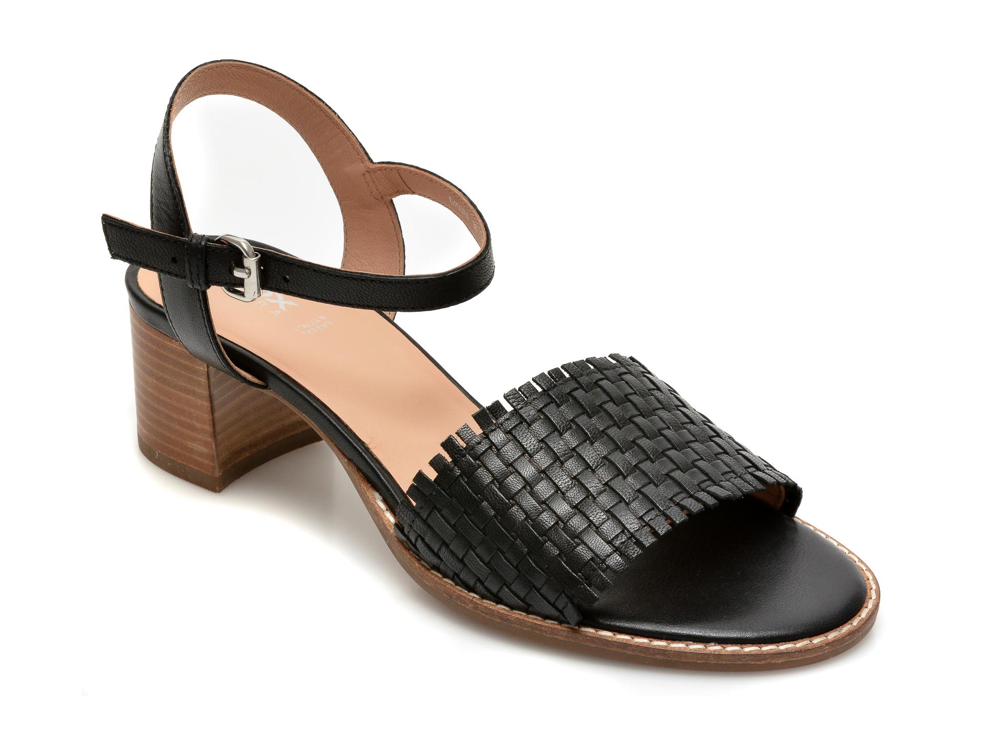 Sandale GEOX negre, D15NRA, din piele naturala New