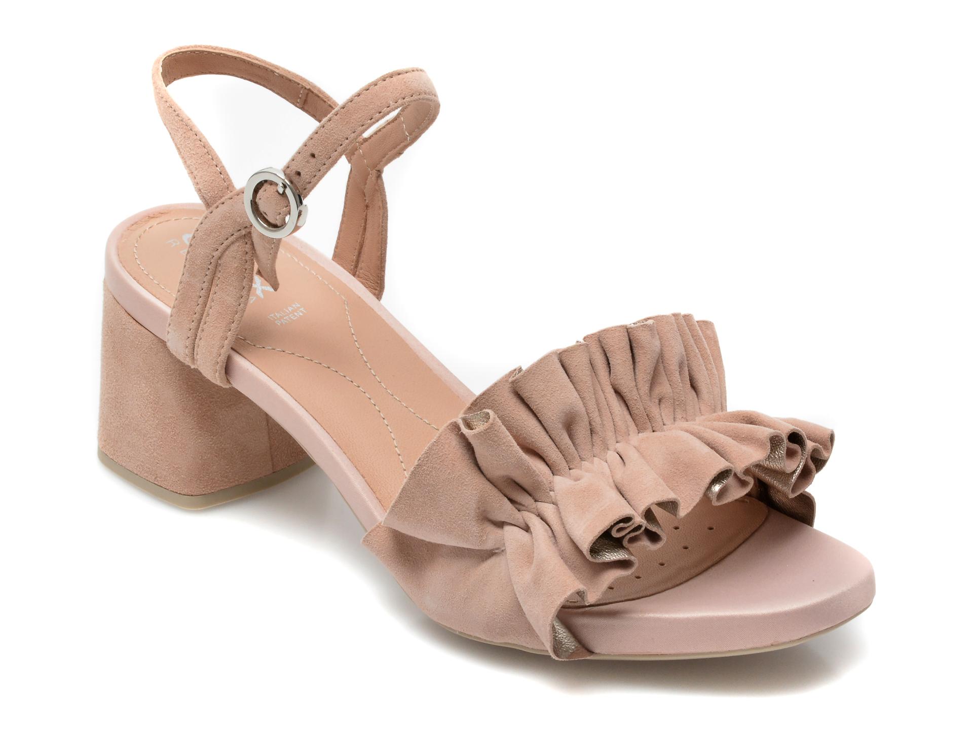 Sandale GEOX nude, D15HAC, din piele intoarsa