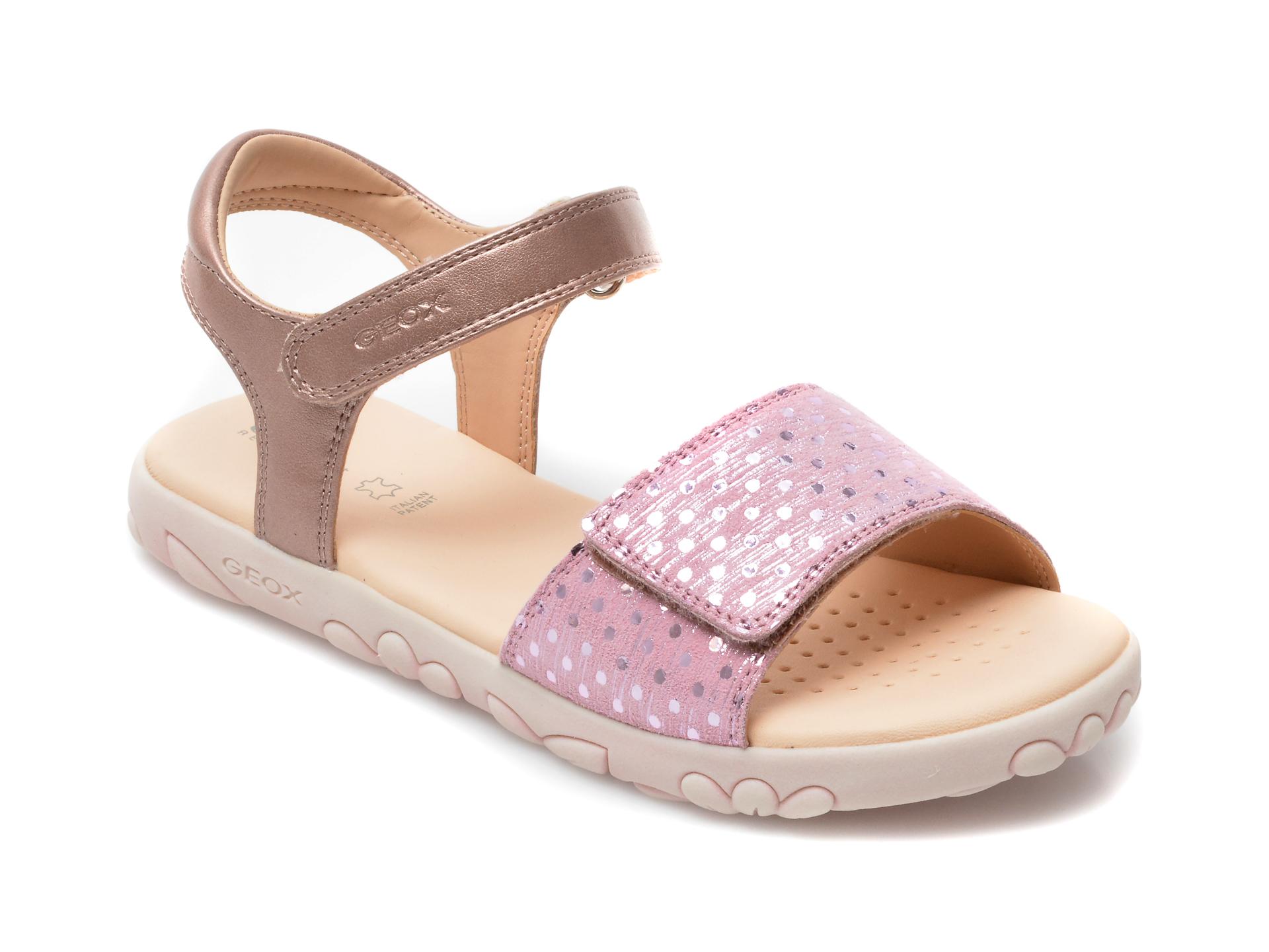 Sandale GEOX roz, J028ZA, din piele naturala