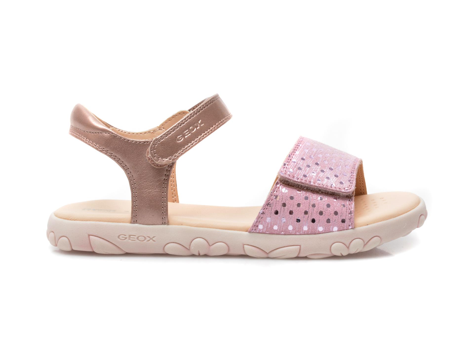 Sandale GEOX roz, J028ZA, din piele naturala - 1