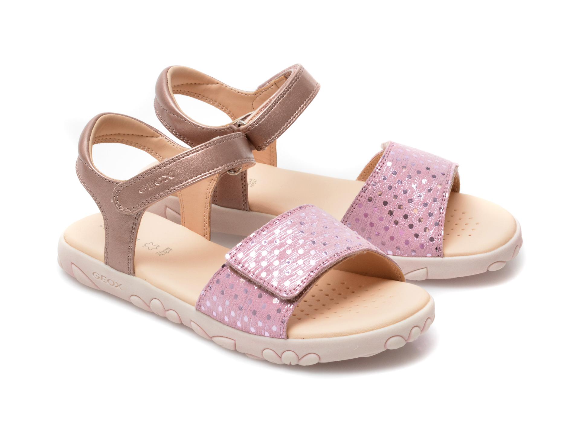 Sandale GEOX roz, J028ZA, din piele naturala - 4