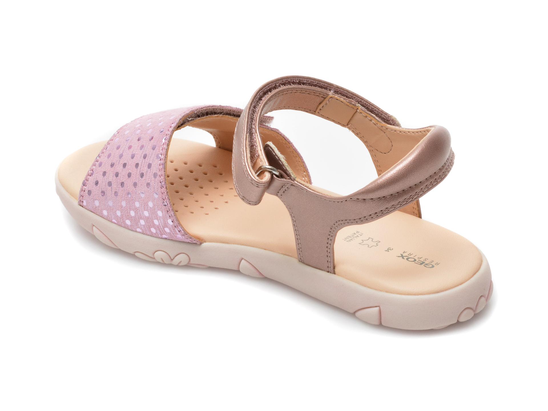 Sandale GEOX roz, J028ZA, din piele naturala - 5