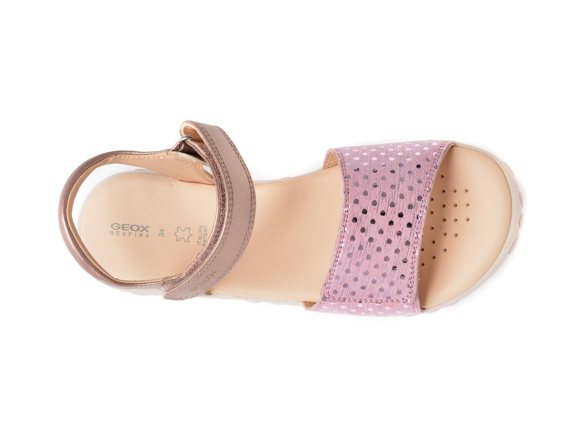 Sandale GEOX roz, J028ZA, din piele naturala - 6