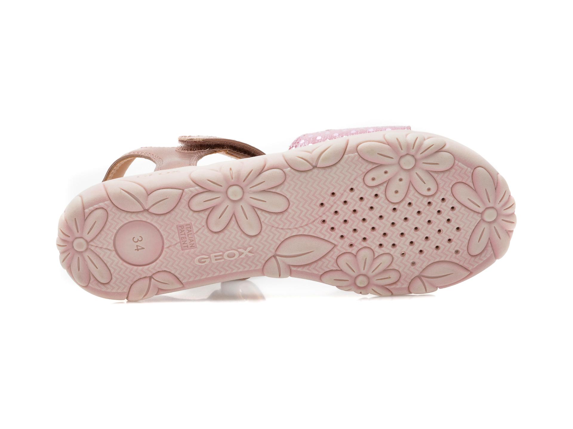 Sandale GEOX roz, J028ZA, din piele naturala - 7