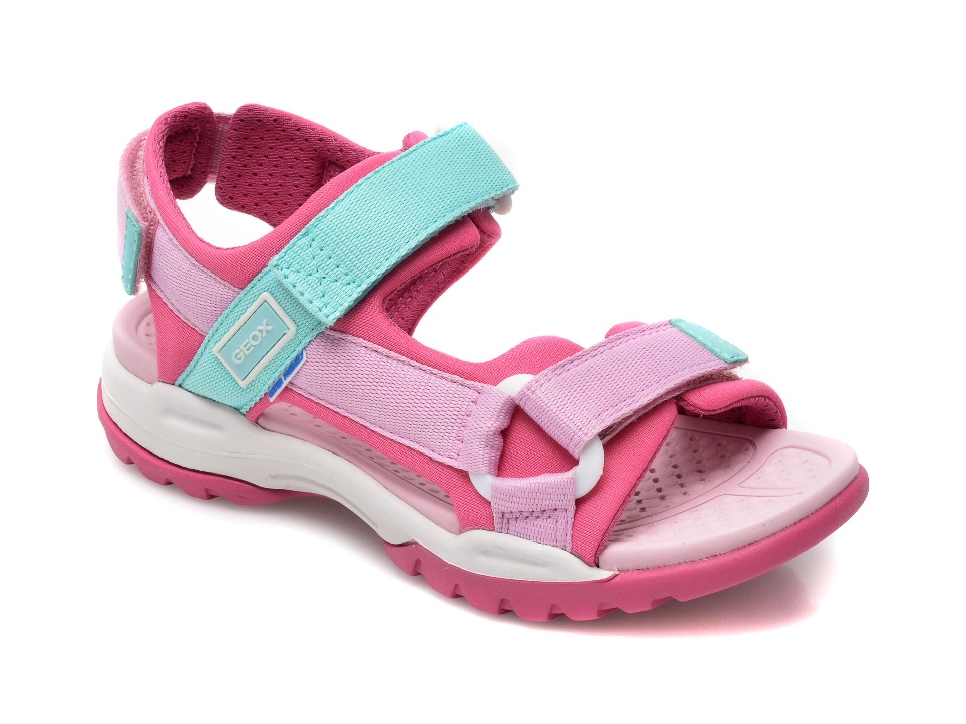 Sandale GEOX roz, J150WA, din material textil