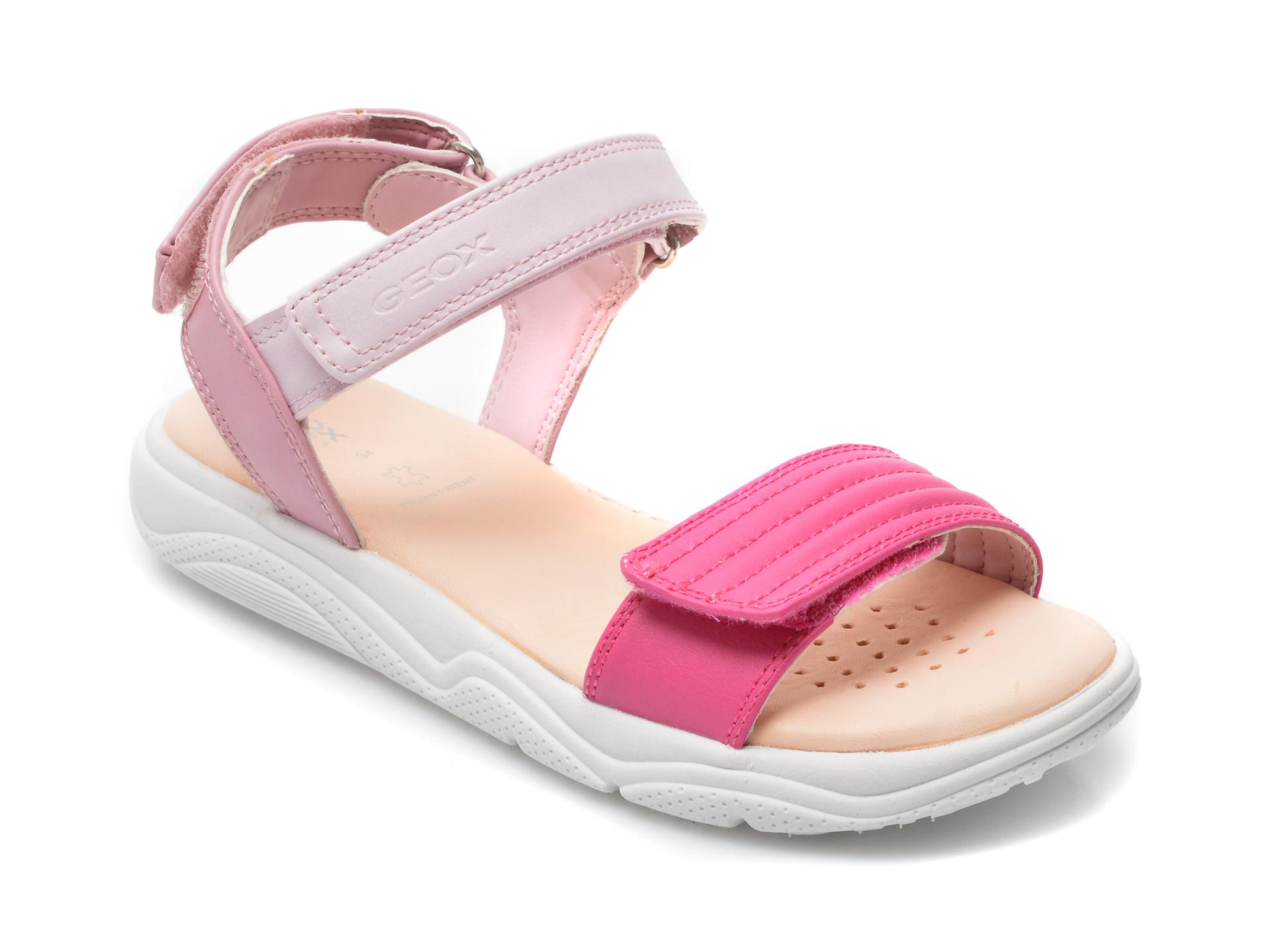 Sandale GEOX roz, J15DUJ, din piele ecologica