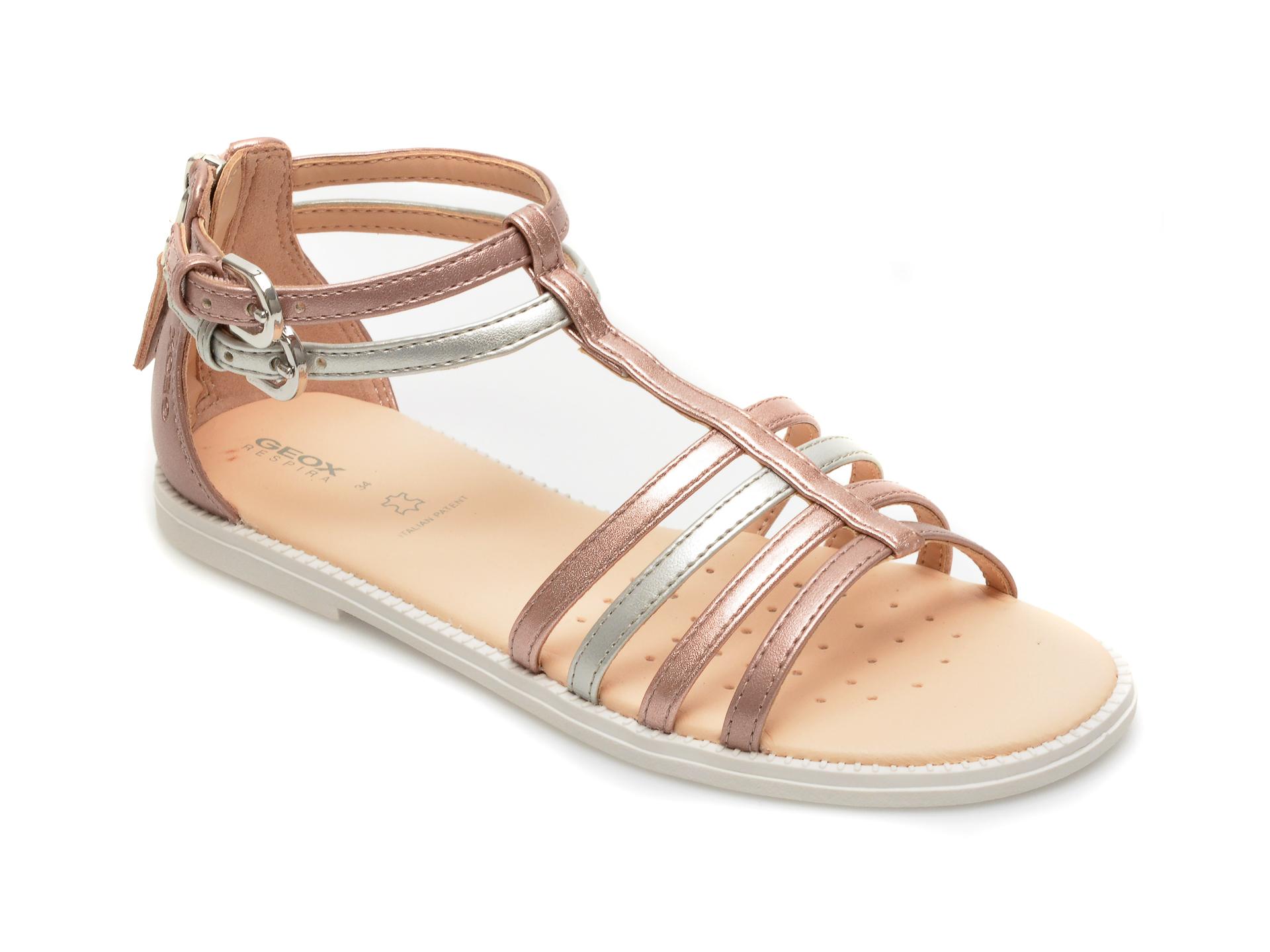 Sandale GEOX roz, J7235D, din piele ecologica
