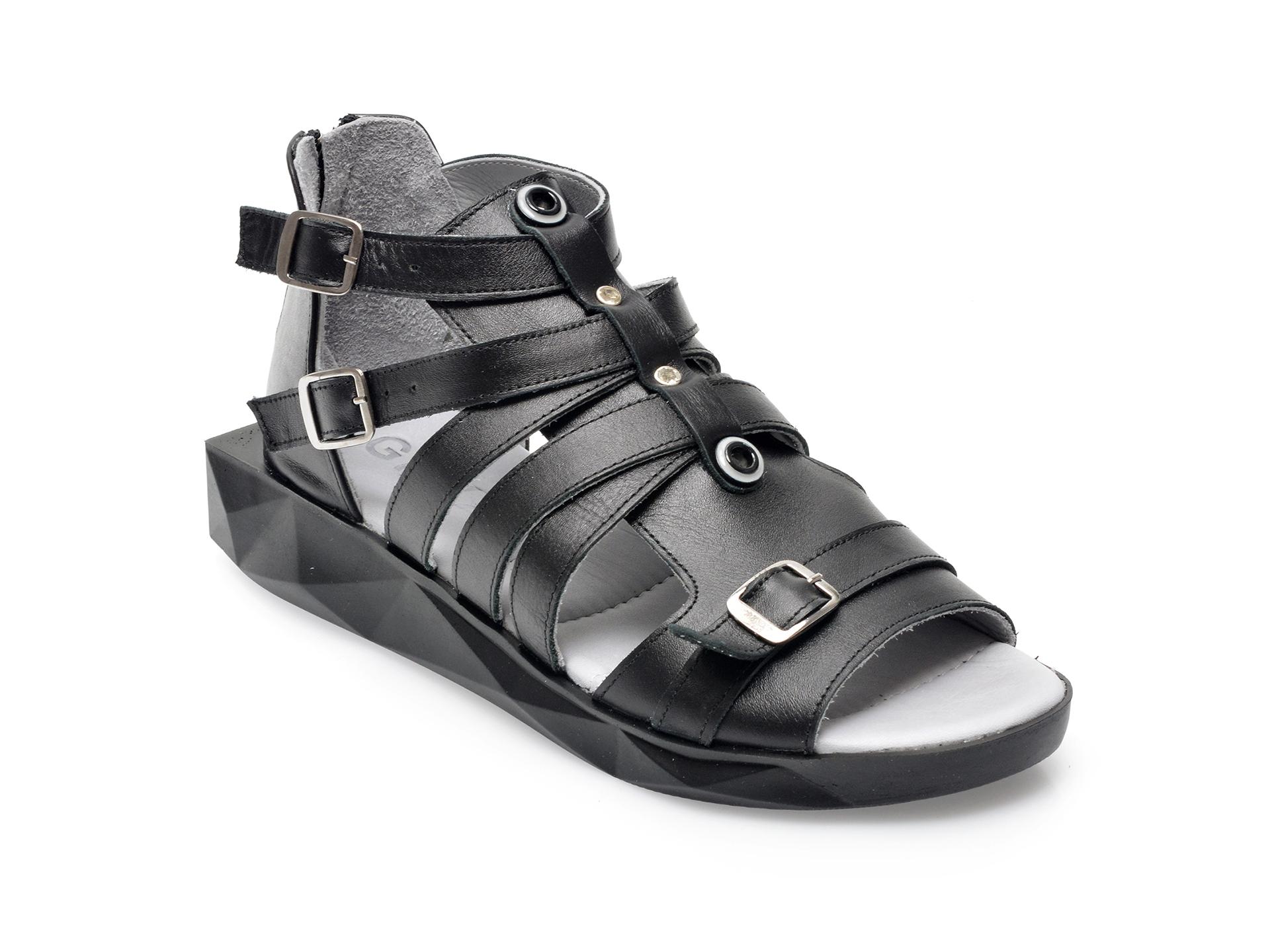 Sandale GRYXX negre, 219308, din piele naturala imagine otter.ro 2021