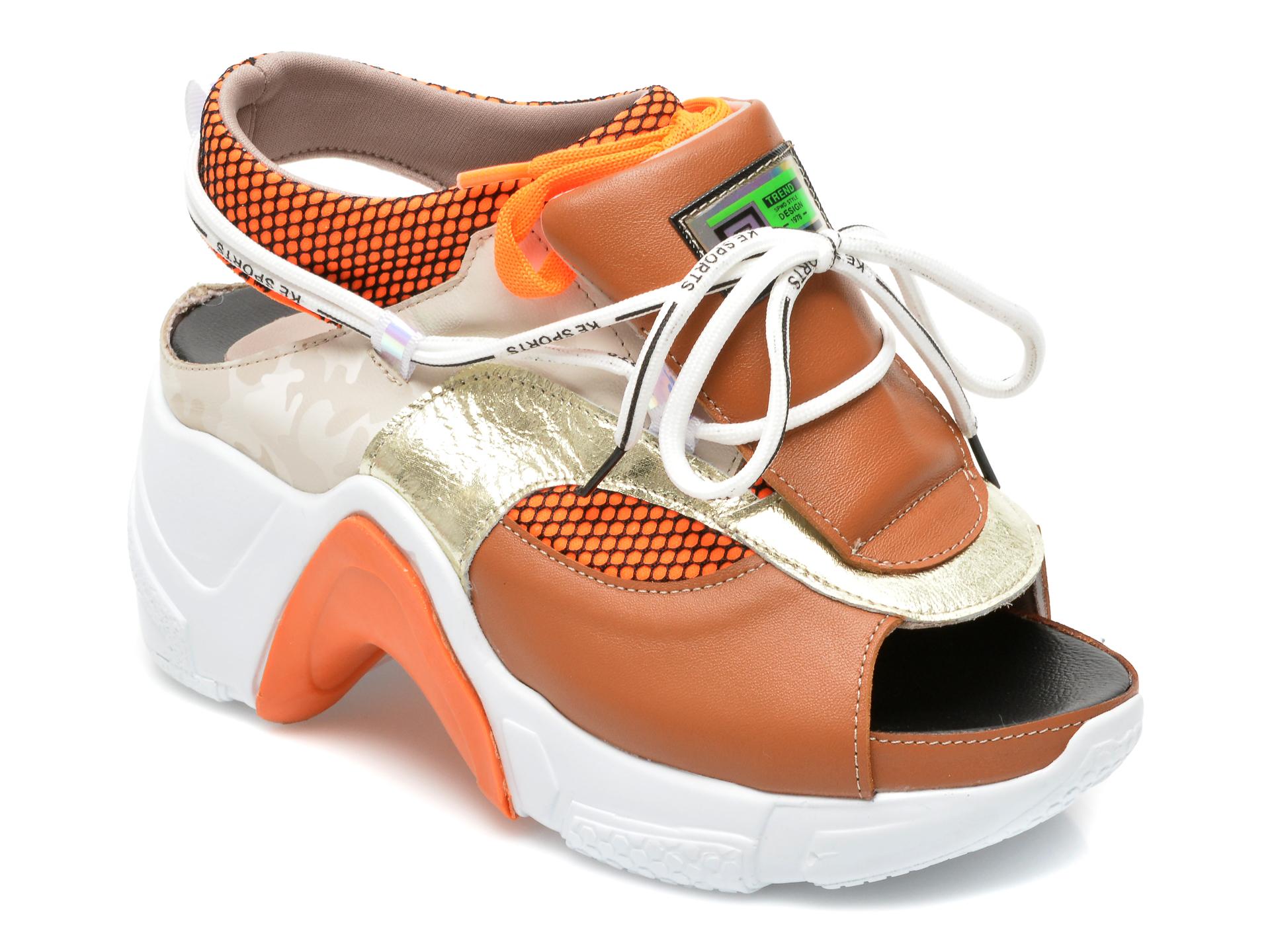 Sandale GRYXX portocalii, 4403075, din material textil si piele naturala imagine 2021 Gryxx