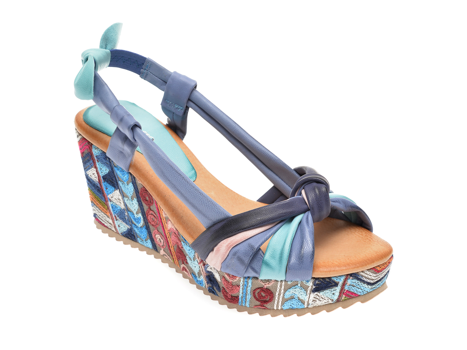 Sandale IMAGE albastre, 5000, din piele naturala imagine