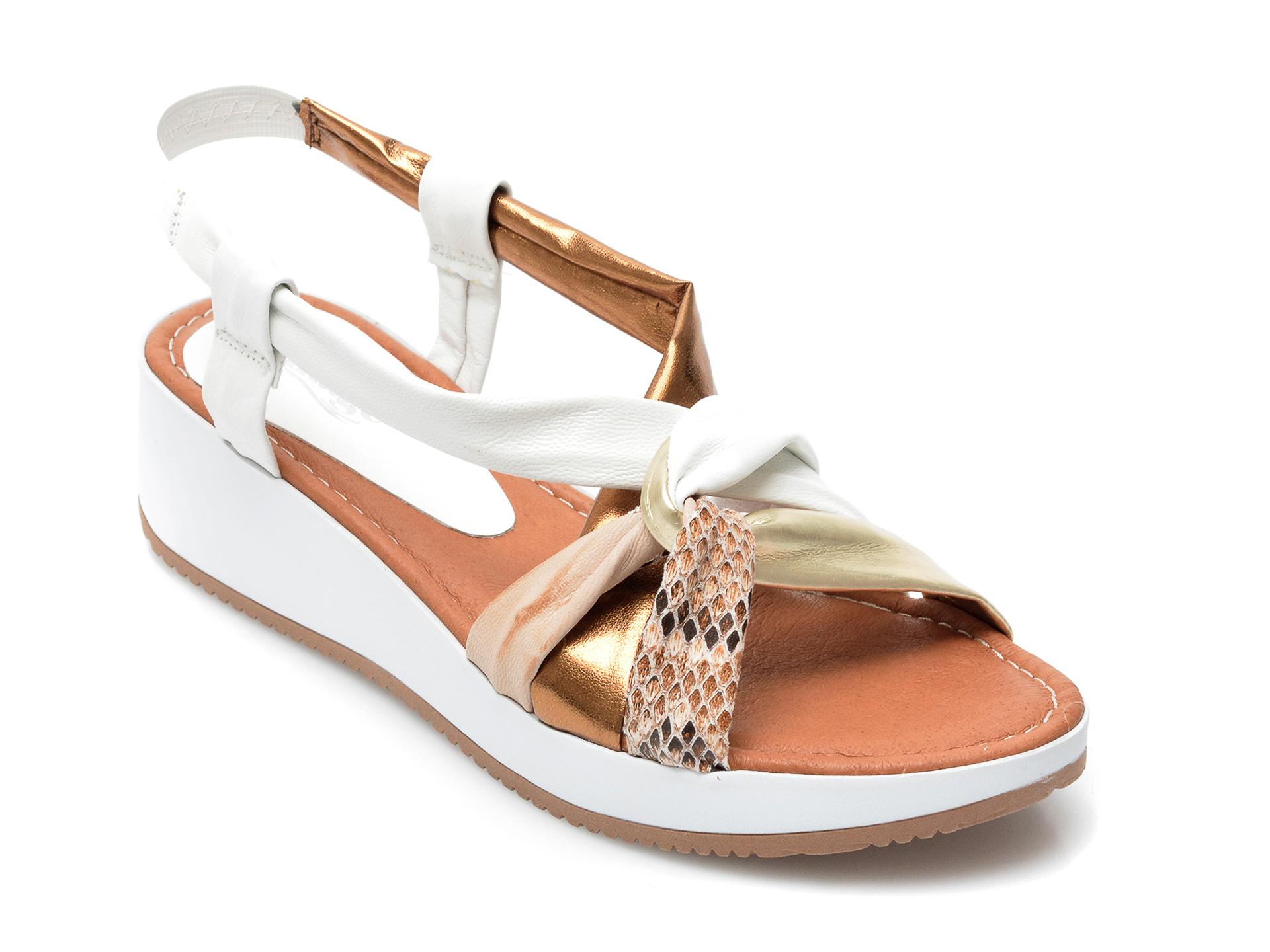 Sandale IMAGE albe, 1158LU, din piele naturala imagine otter.ro 2021