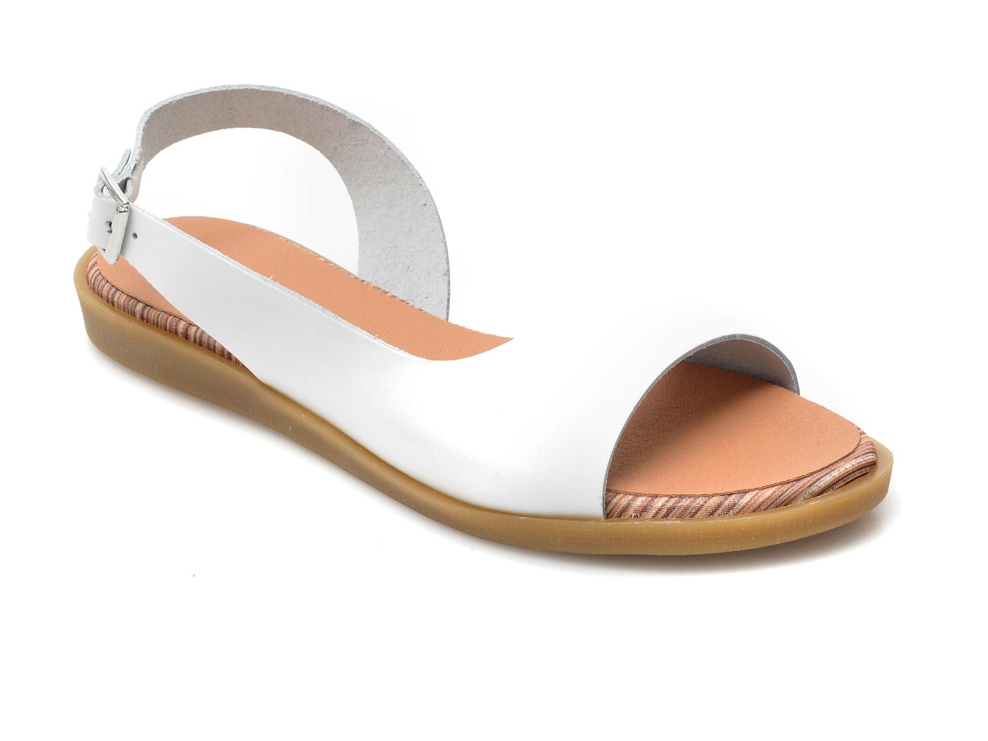 Sandale IMAGE albe, 1323, din piele naturala imagine otter.ro 2021
