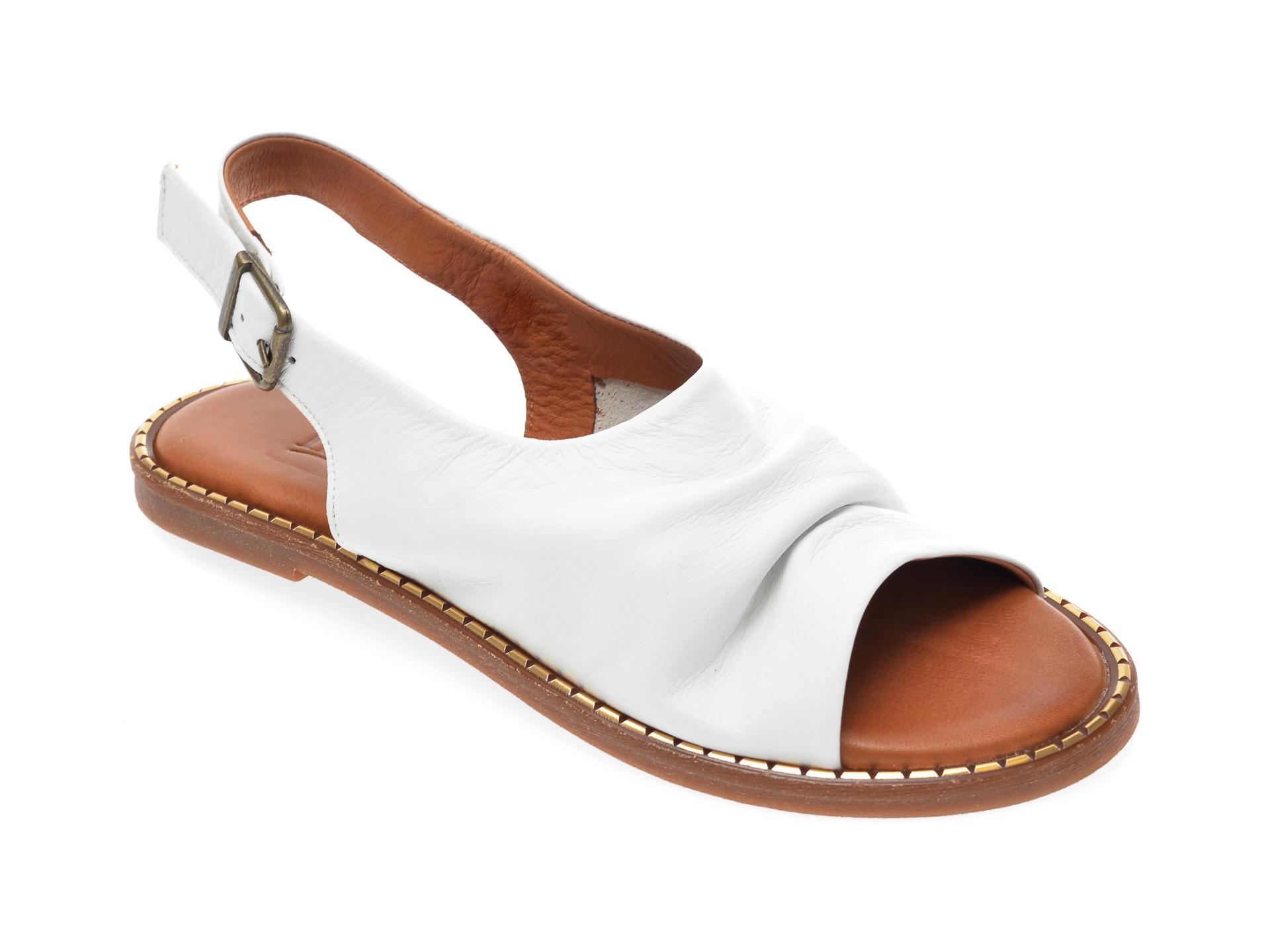 Sandale IMAGE albe, 707, din piele naturala imagine otter.ro 2021