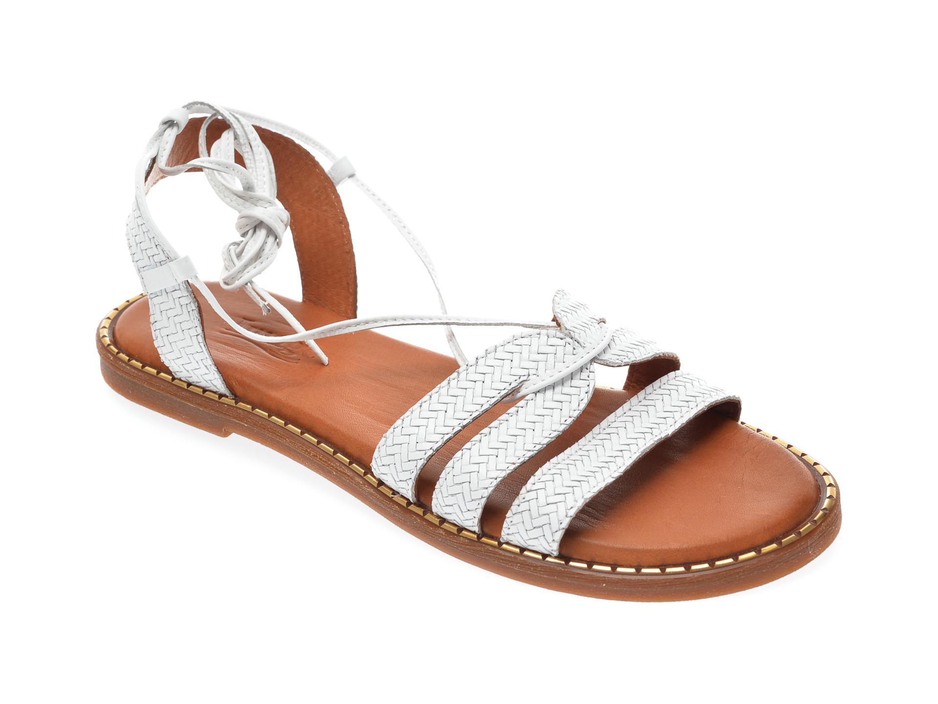 Sandale IMAGE albe, 724, din piele naturala imagine otter.ro 2021