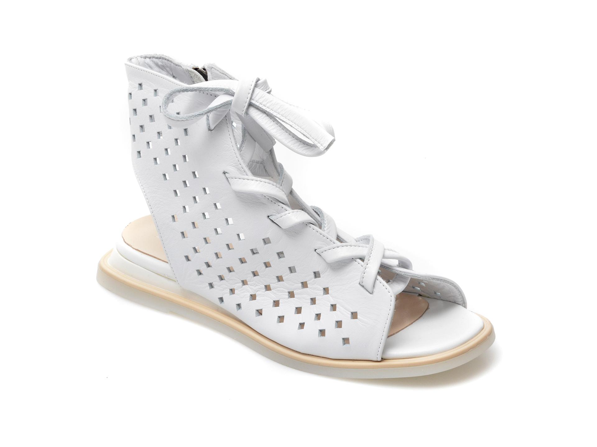 Sandale IMAGE albe, 762032, din piele naturala imagine otter.ro 2021