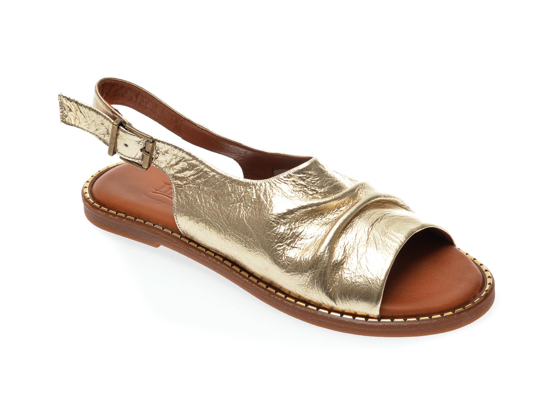 Sandale IMAGE aurii, 707, din piele naturala imagine otter.ro 2021