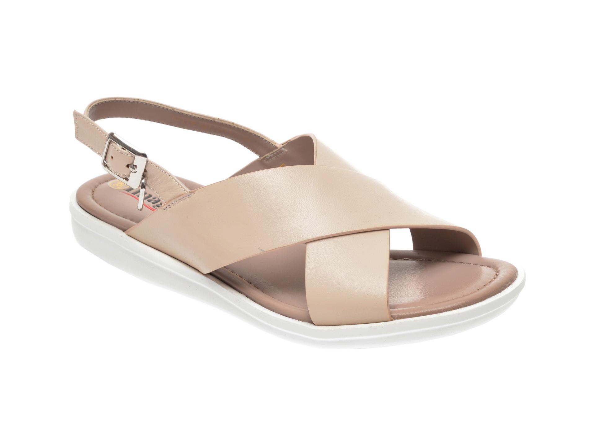 Sandale IMAGE bej, 82179Q1, din piele naturala