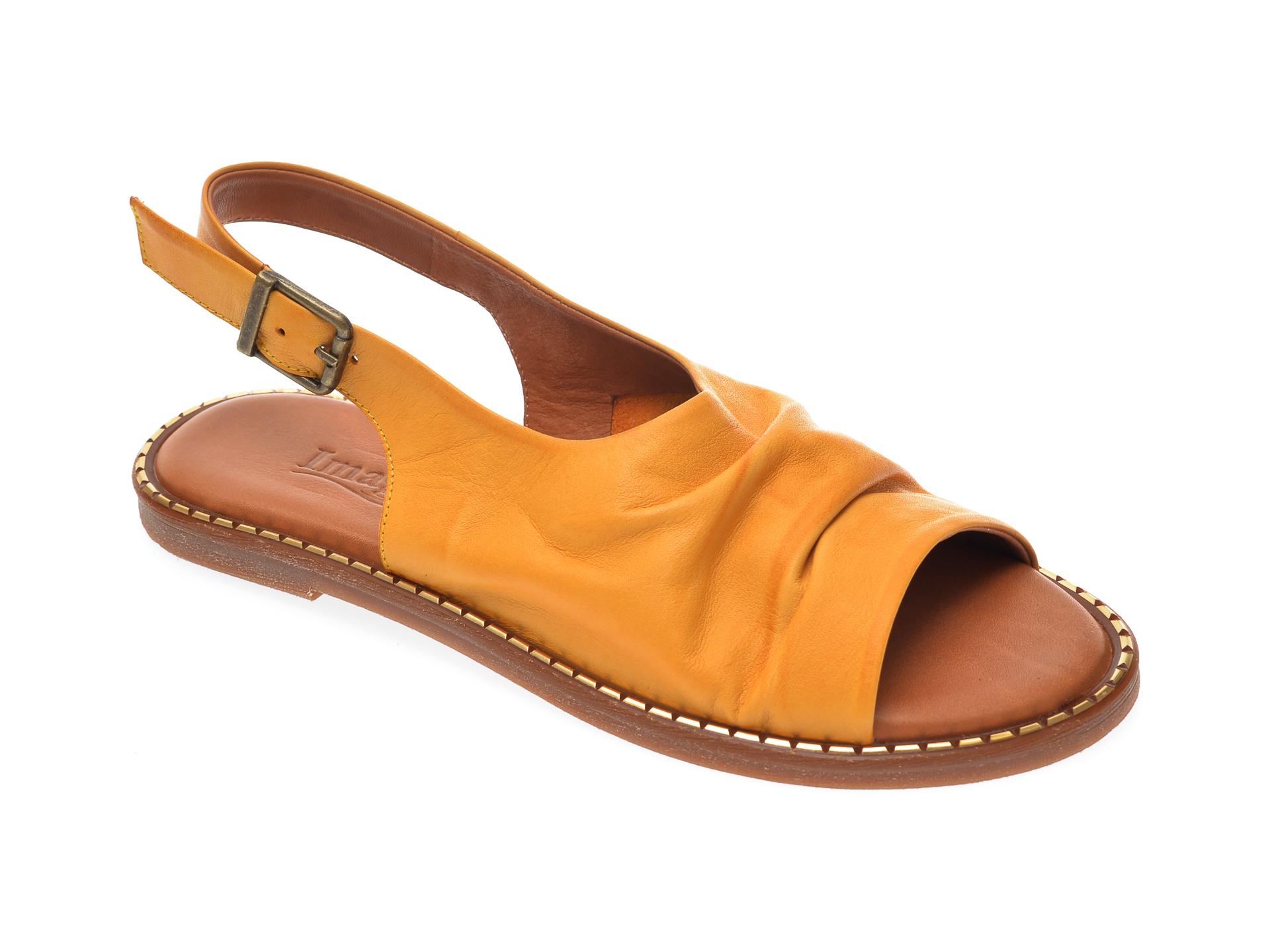 Sandale IMAGE galbene, 707, din piele naturala imagine otter.ro 2021