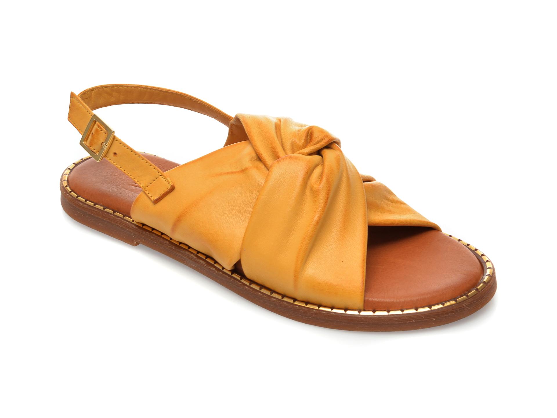 Sandale IMAGE galbene, 719, din piele naturala imagine otter.ro