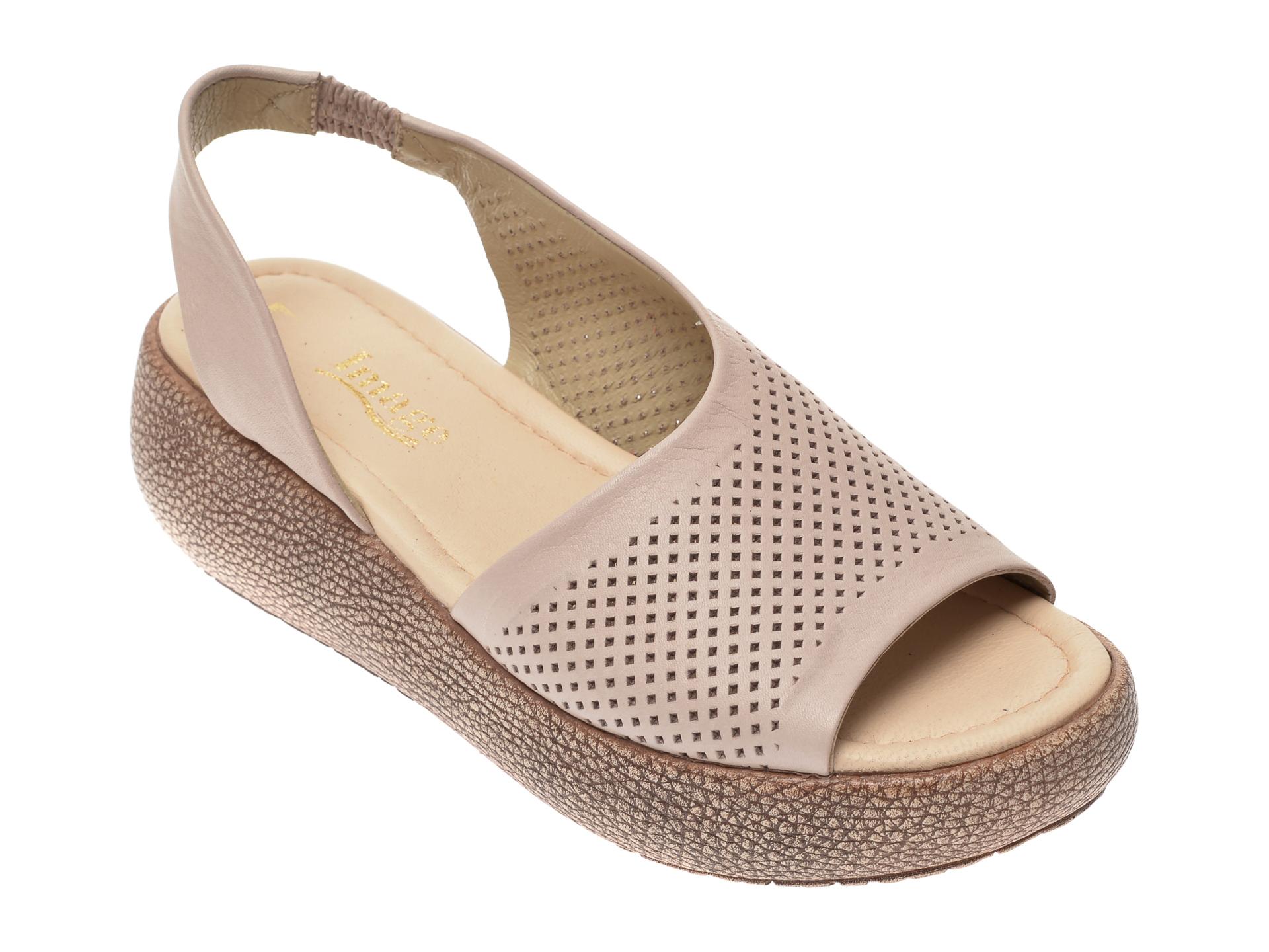 Sandale IMAGE gri, 6033, din piele naturala imagine