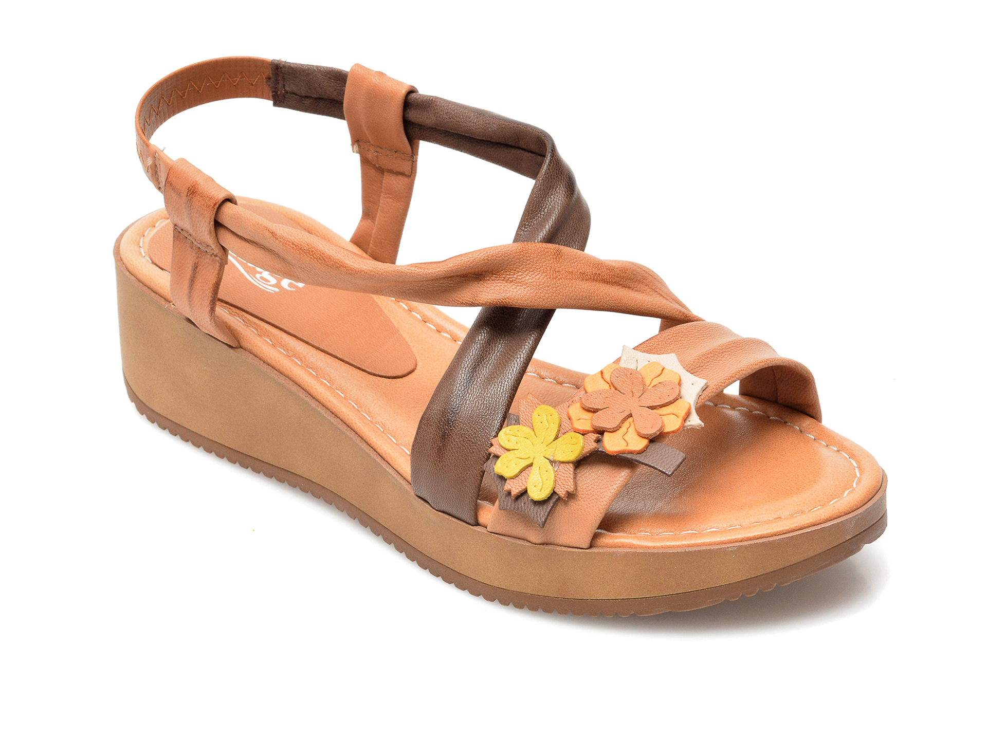 Sandale IMAGE maro, 1156LU, din piele naturala imagine otter.ro 2021