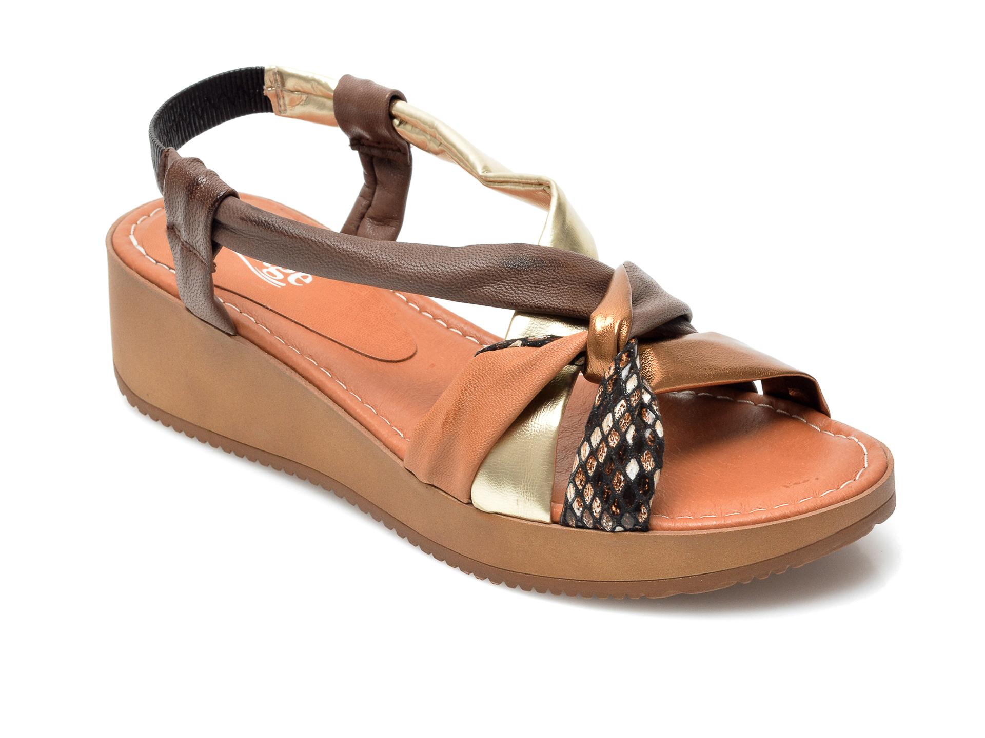 Sandale IMAGE maro, 1158LU, din piele naturala imagine otter.ro 2021