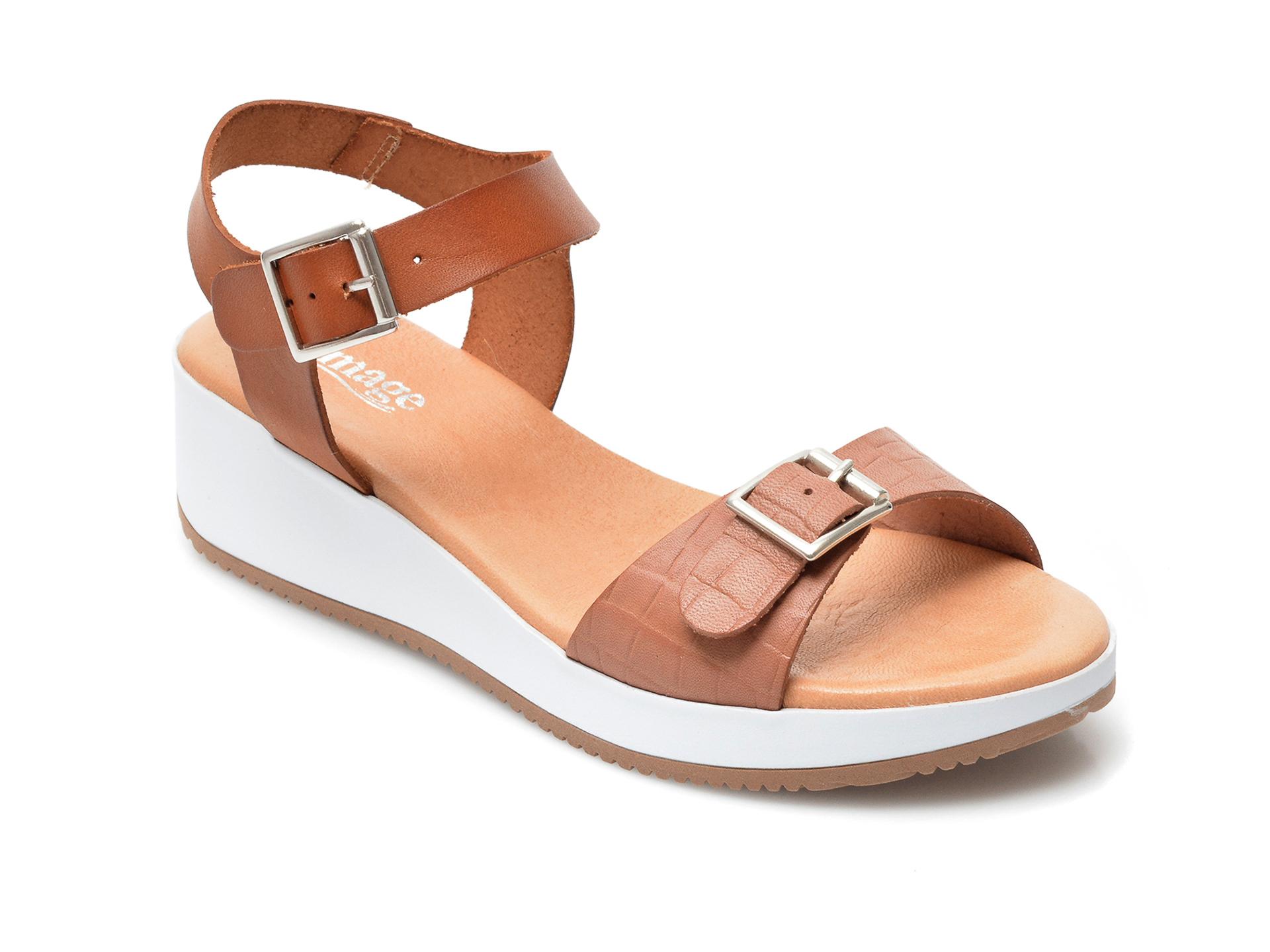 Sandale IMAGE maro, 1411S, din piele naturala imagine otter.ro 2021