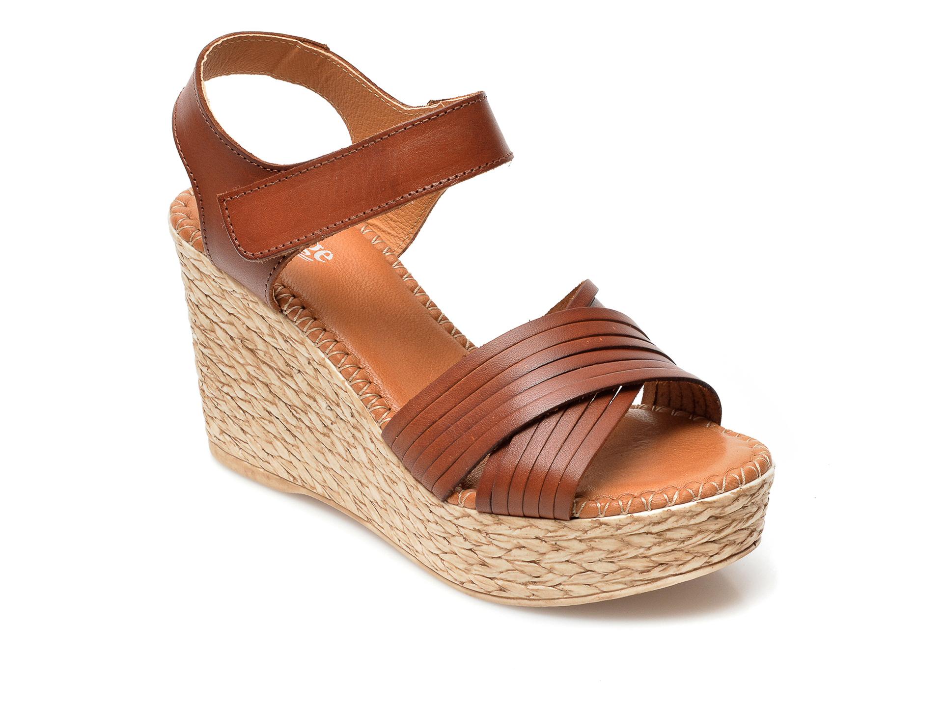 Sandale IMAGE maro, 1506, din piele naturala imagine otter.ro 2021