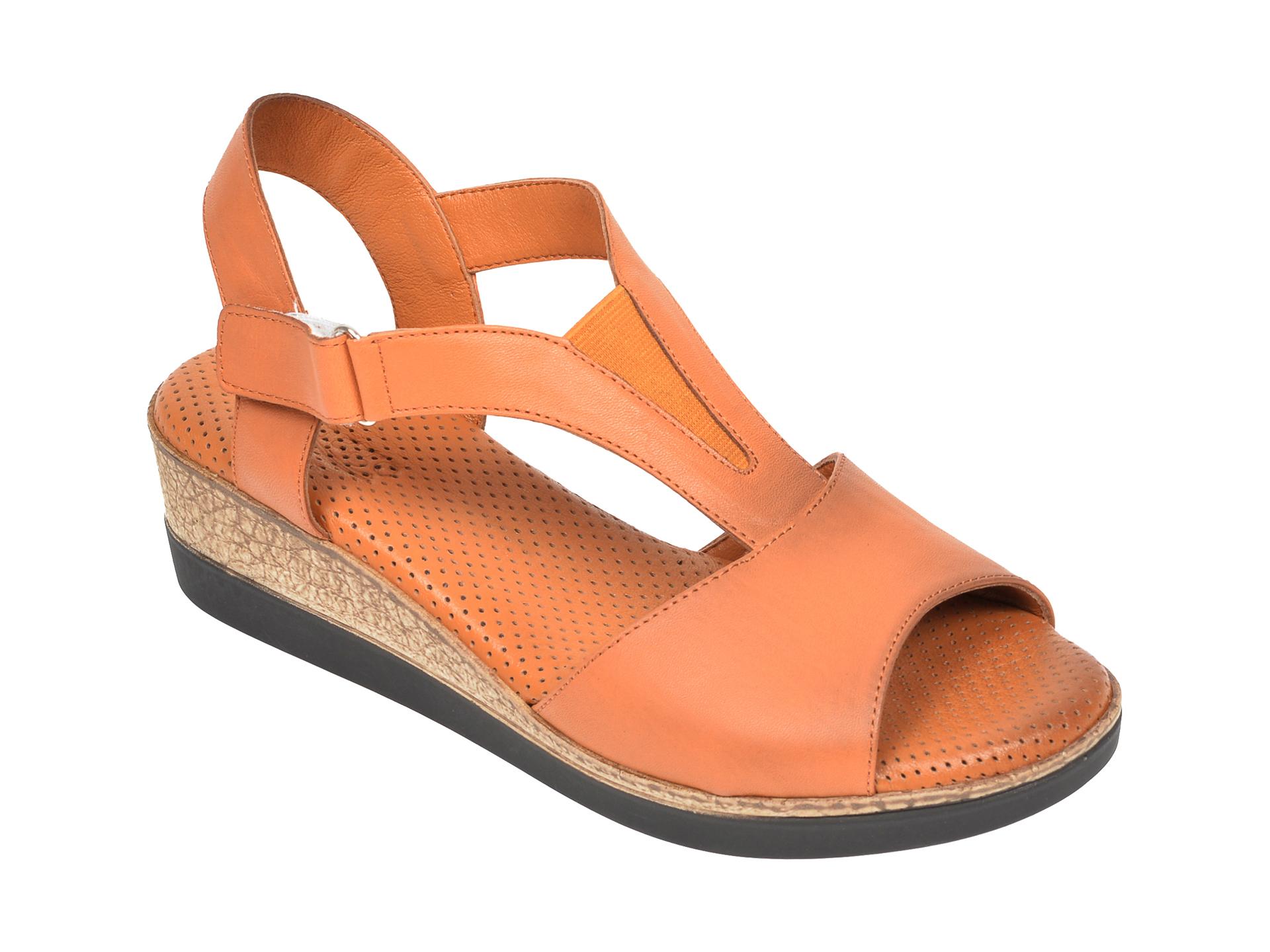 Sandale IMAGE maro, 2003, din piele naturala imagine
