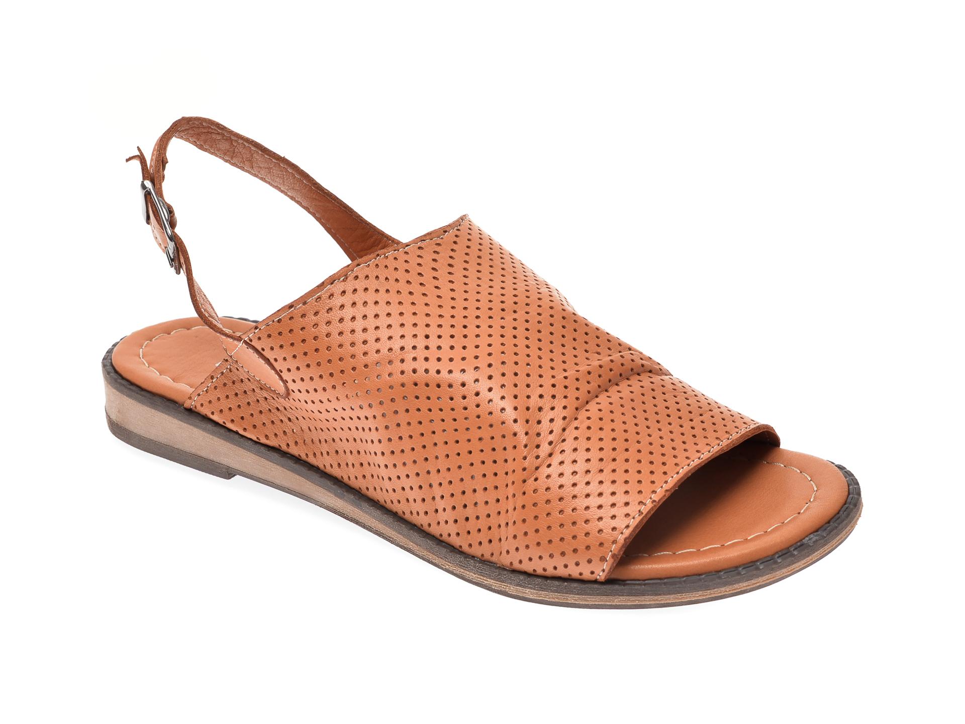 Sandale IMAGE maro, 201, din piele naturala