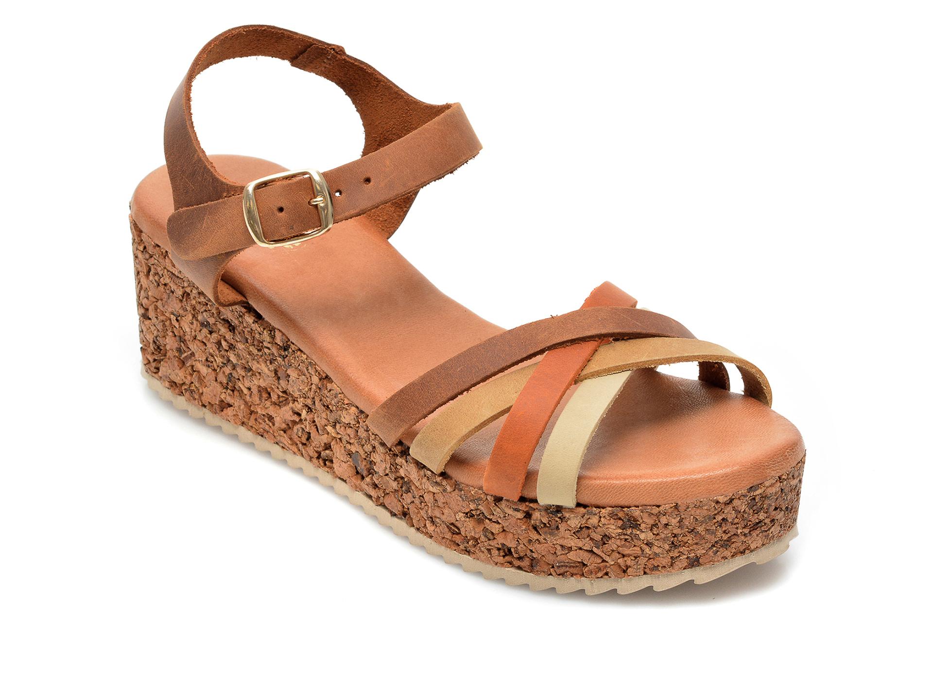 Sandale IMAGE maro, 54210AP, din piele naturala imagine otter.ro 2021