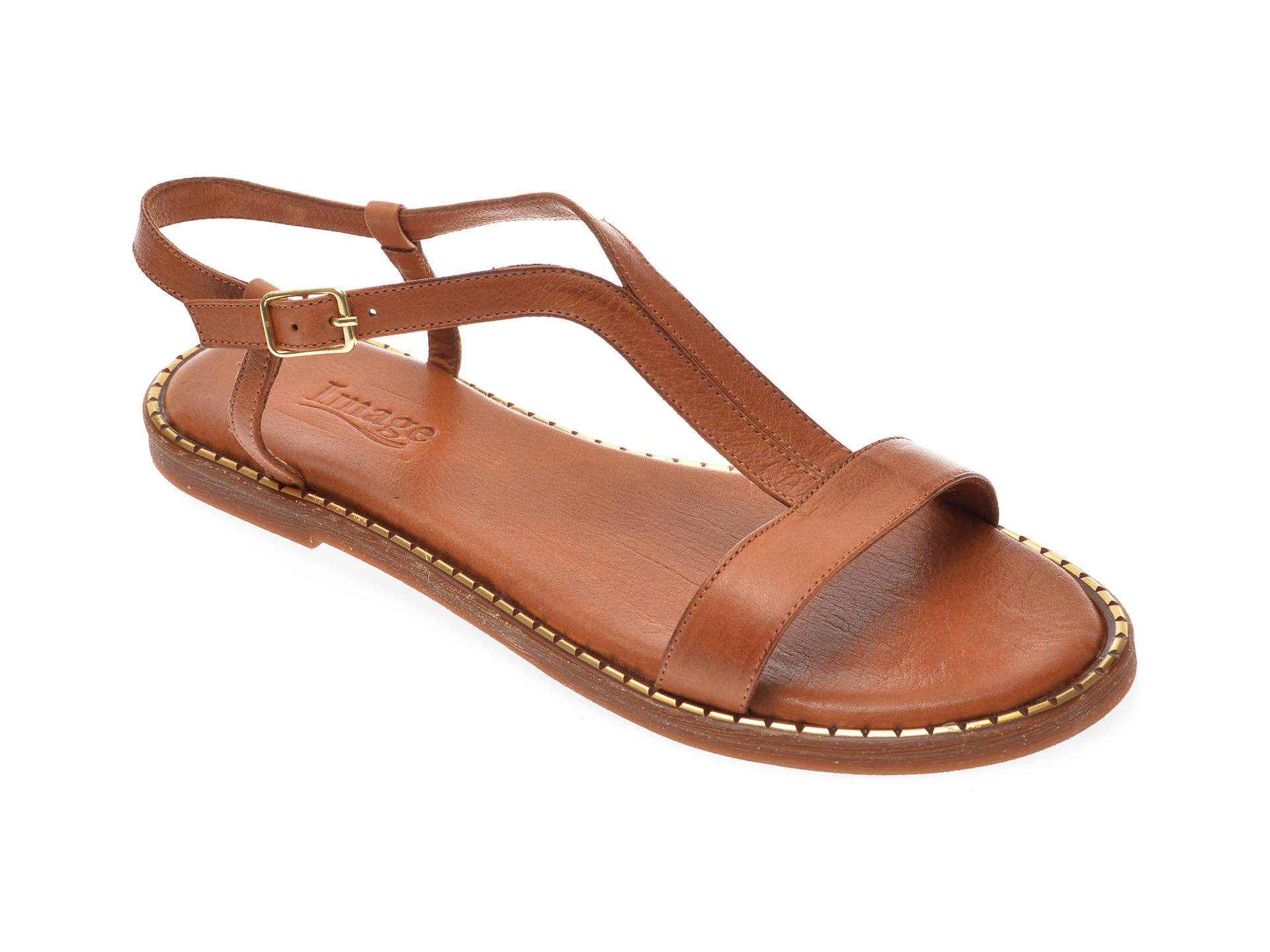 Sandale IMAGE maro, 701, din piele naturala imagine otter.ro 2021