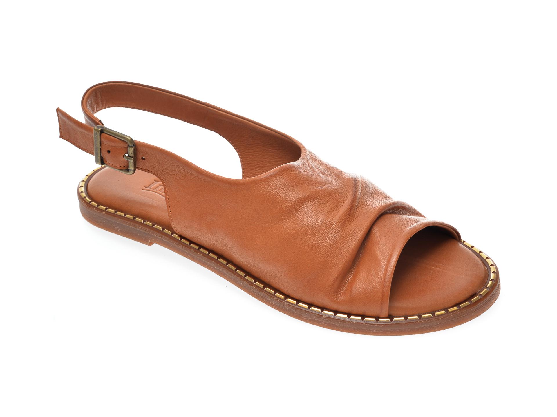 Sandale IMAGE maro, 707, din piele naturala imagine otter.ro 2021