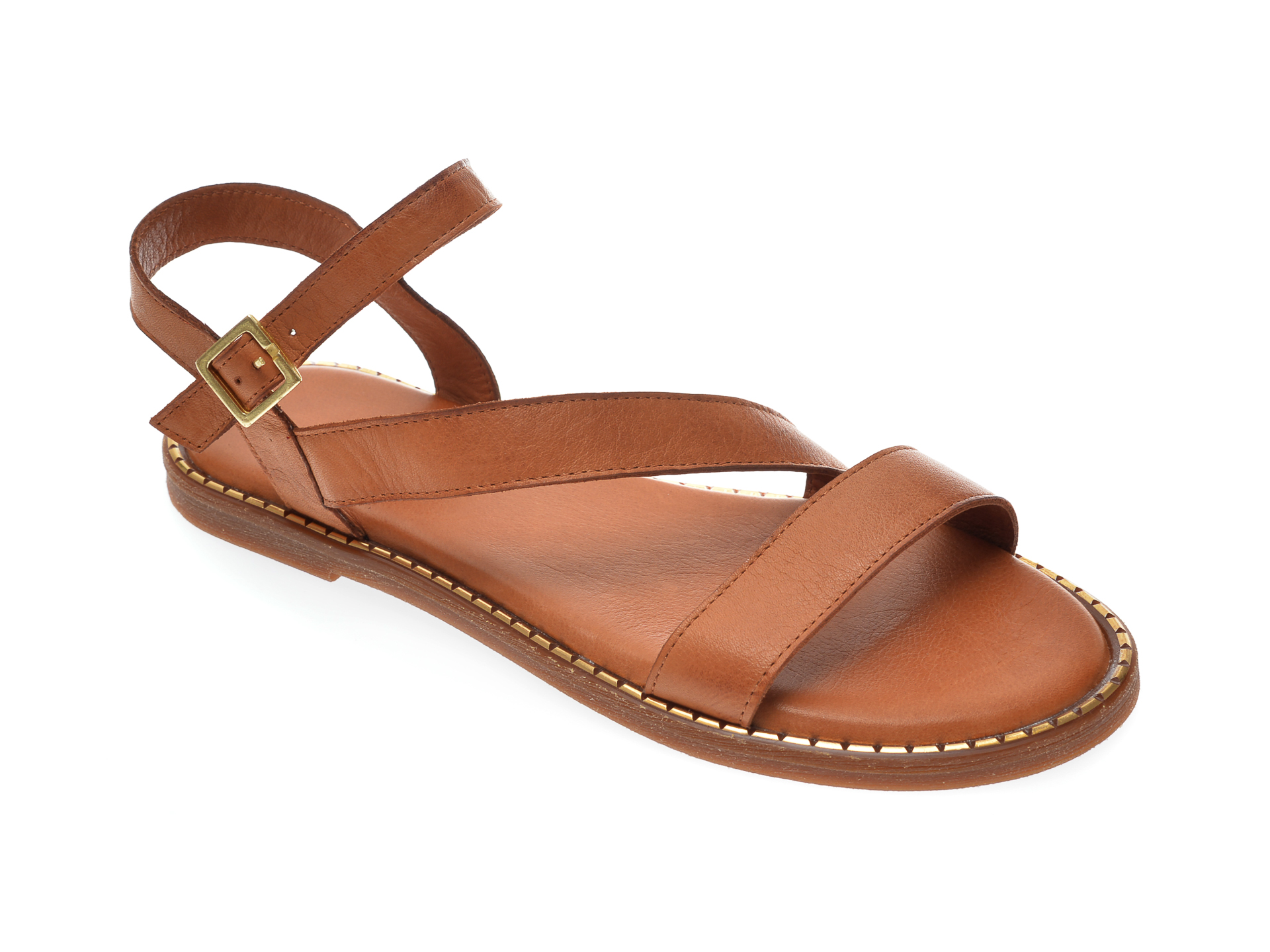 Sandale IMAGE maro, 711, din piele naturala imagine otter.ro 2021