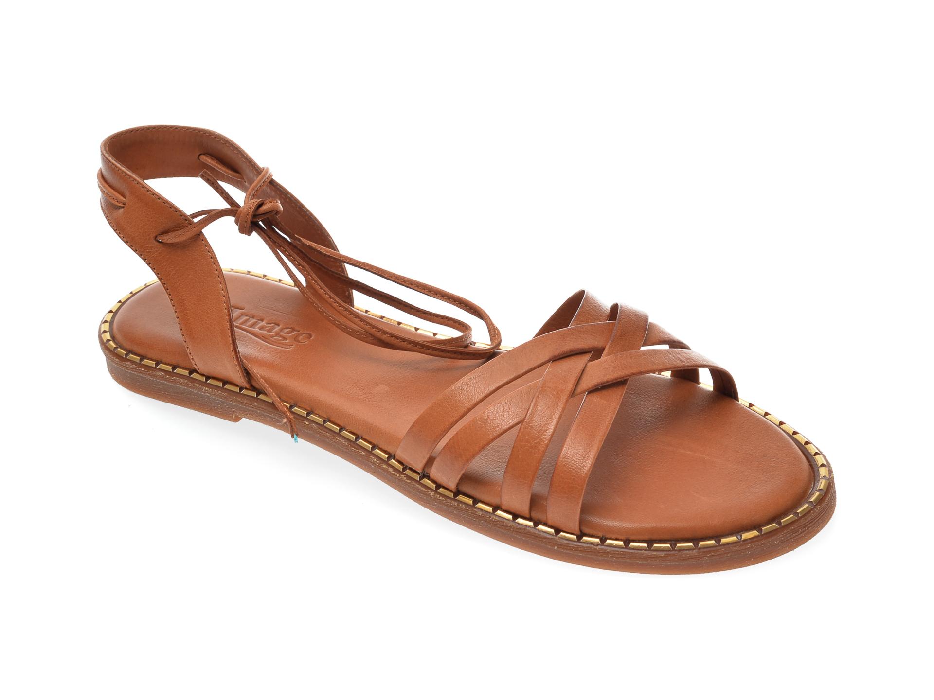 Sandale IMAGE maro, 717, din piele naturala imagine otter.ro 2021