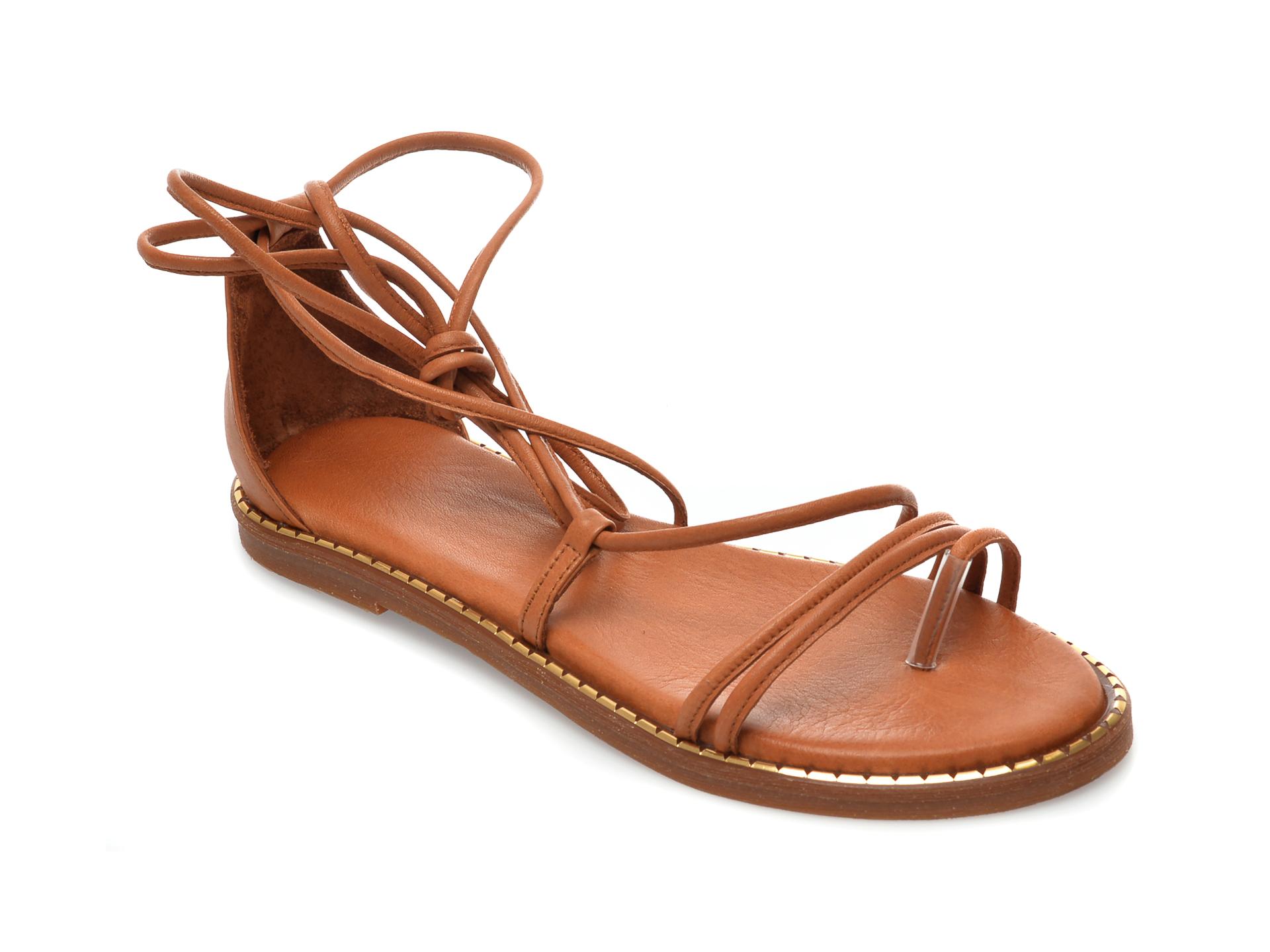 Sandale IMAGE maro, 732, din piele naturala imagine otter.ro 2021