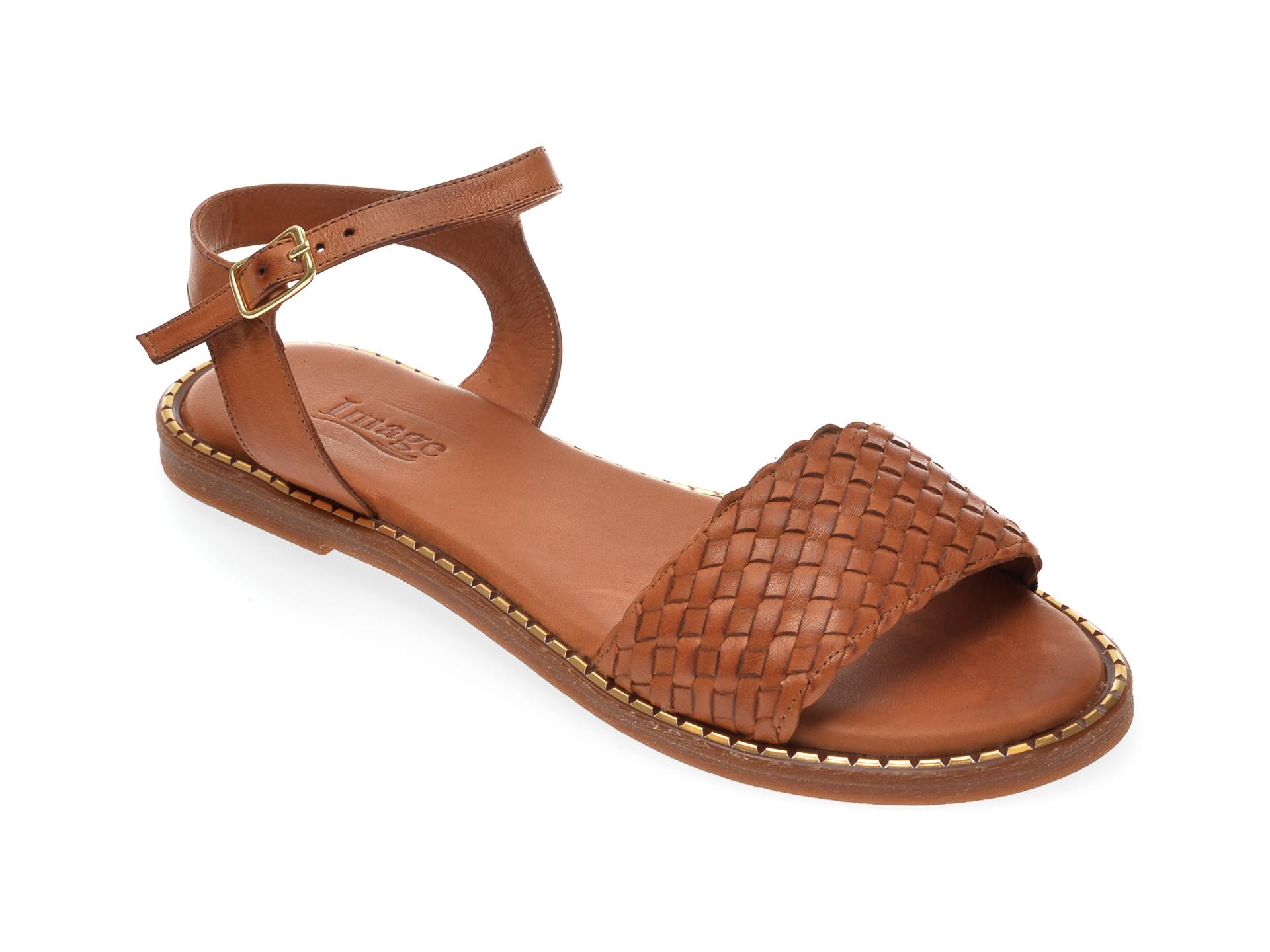 Sandale IMAGE maro, 736, din piele naturala imagine otter.ro 2021