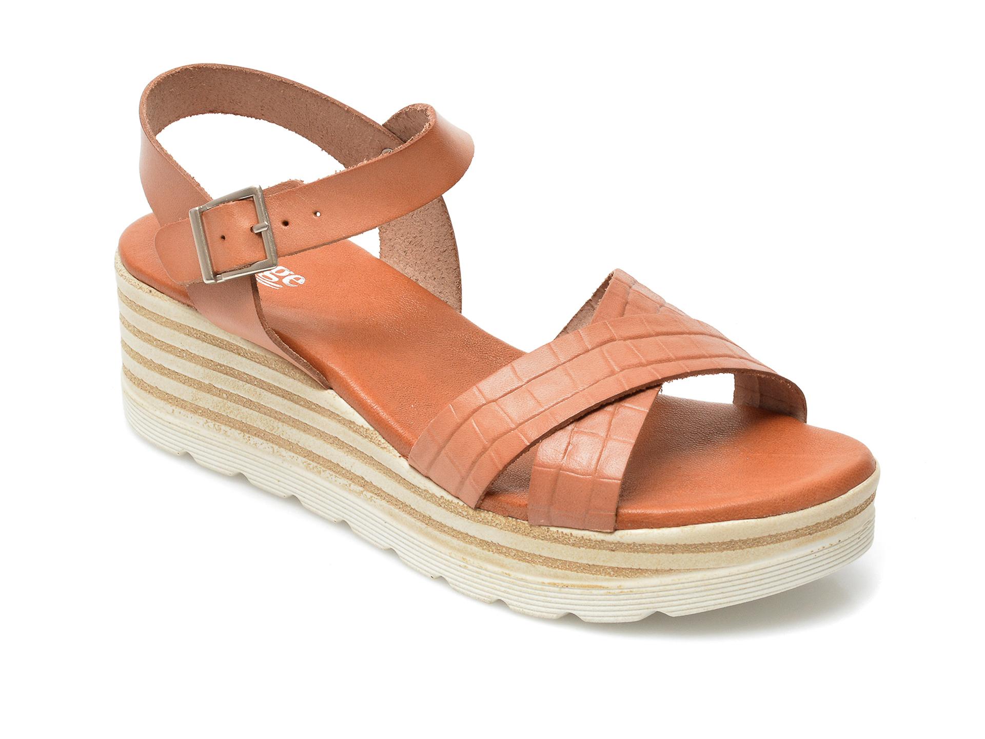 Sandale IMAGE maro, 8110S, din piele naturala imagine otter.ro 2021