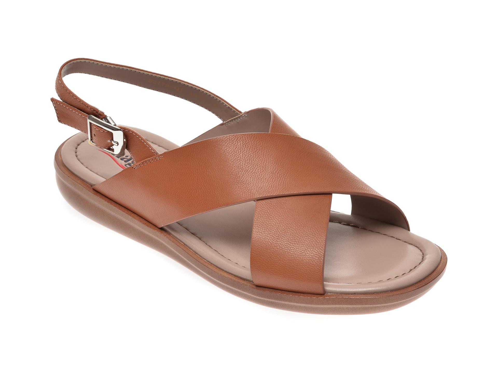 Sandale IMAGE maro, 82179Q1, din piele naturala imagine