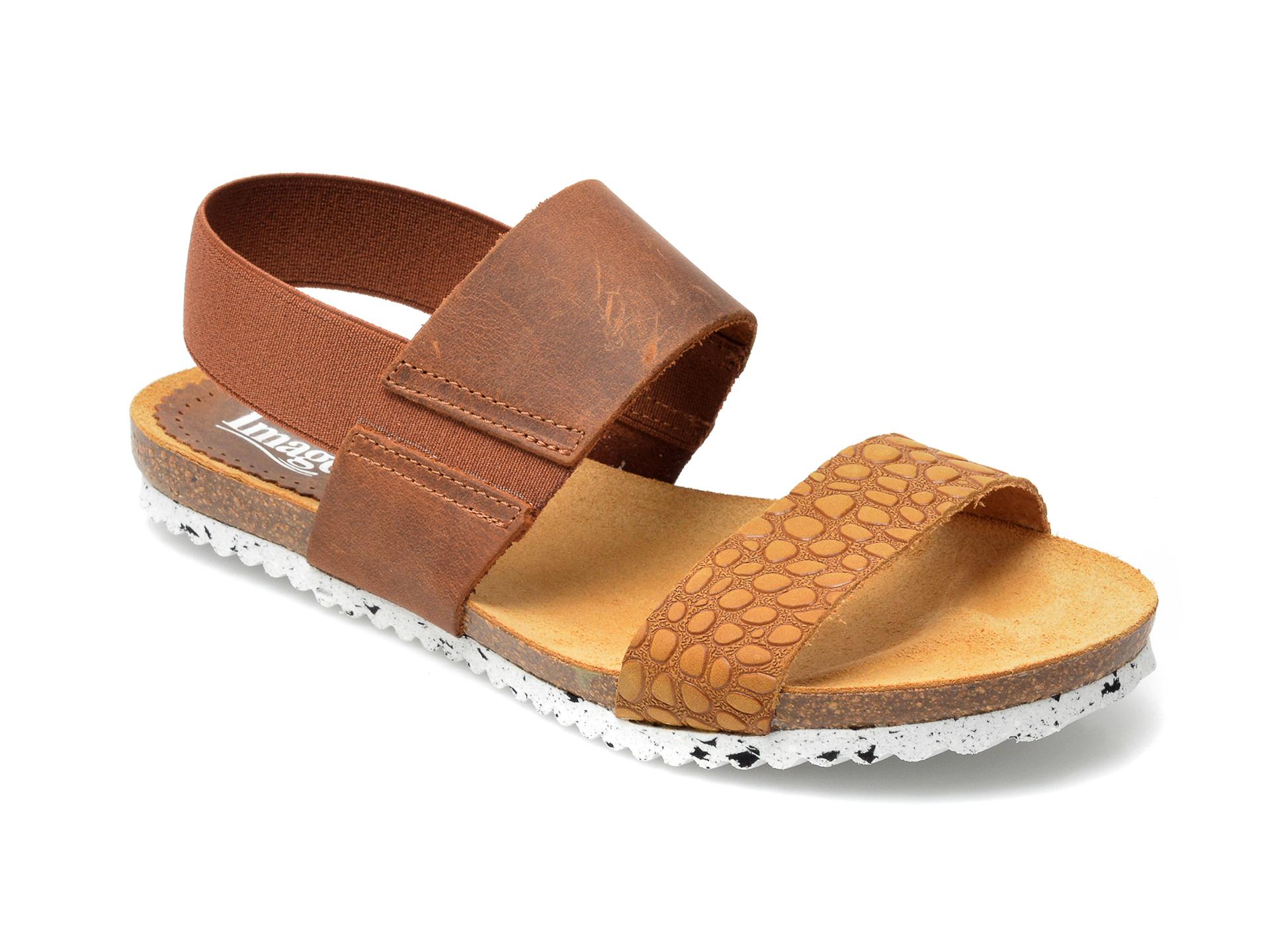 Sandale IMAGE maro, 882380, din piele naturala imagine otter.ro 2021