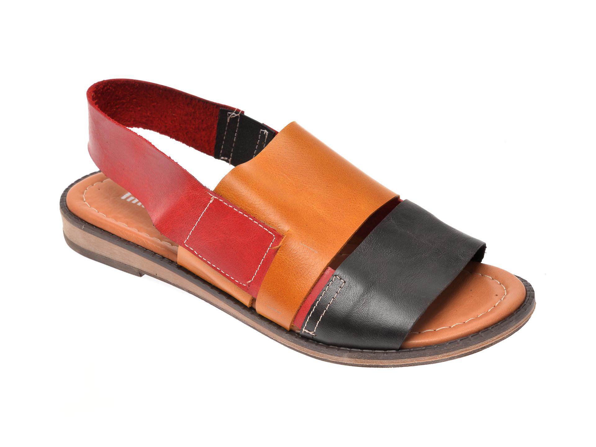 Sandale IMAGE multicolor, 122, din piele naturala imagine