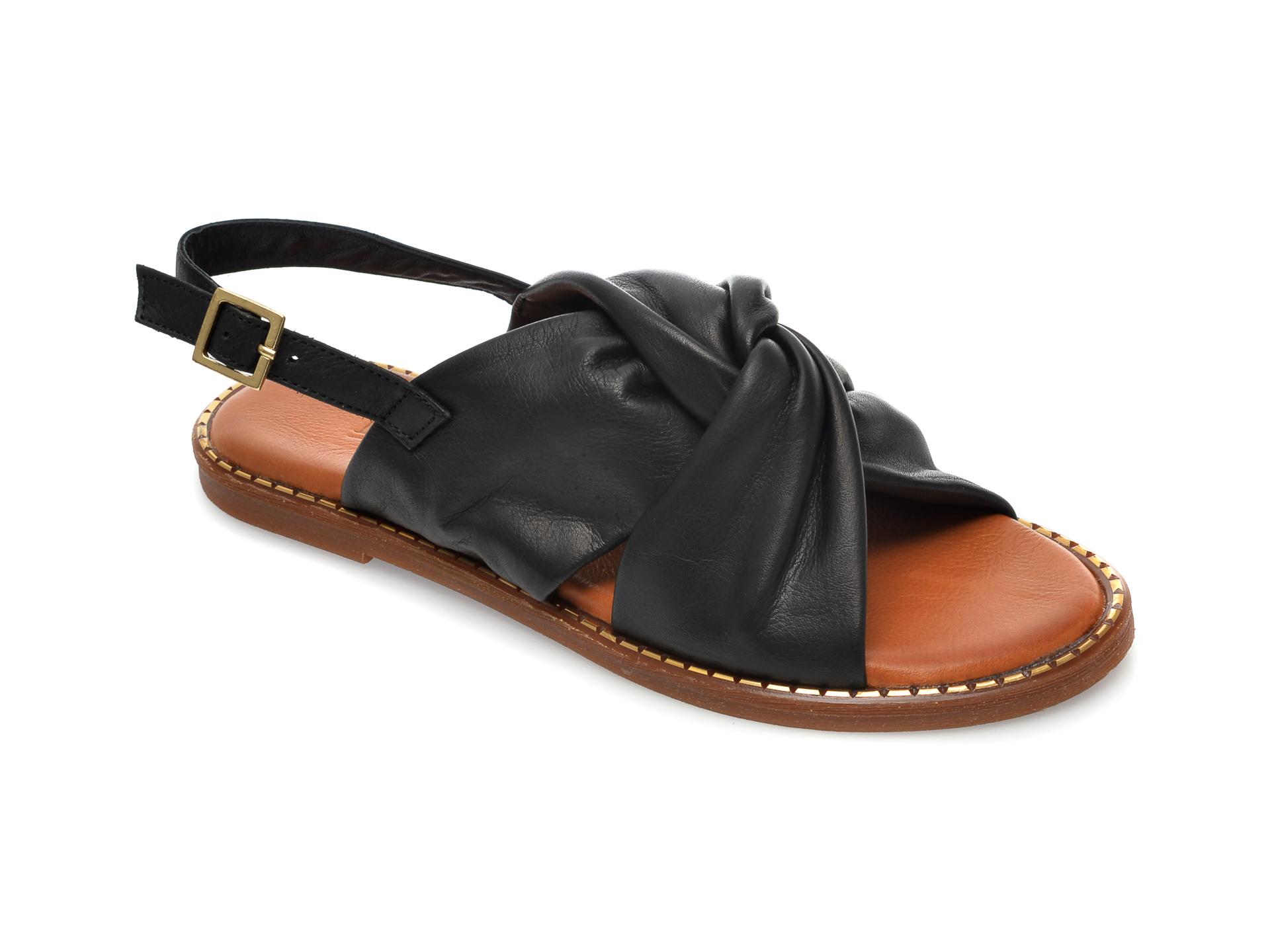 Sandale IMAGE negre, 719, din piele naturala imagine otter.ro 2021