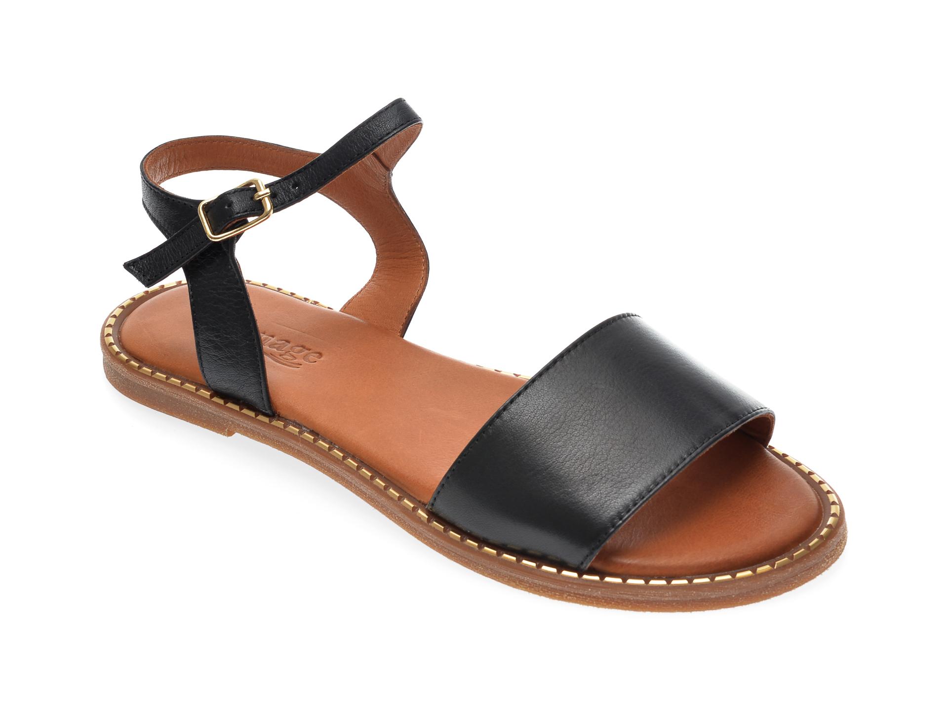 Sandale IMAGE negre, 7361, din piele naturala imagine otter.ro 2021